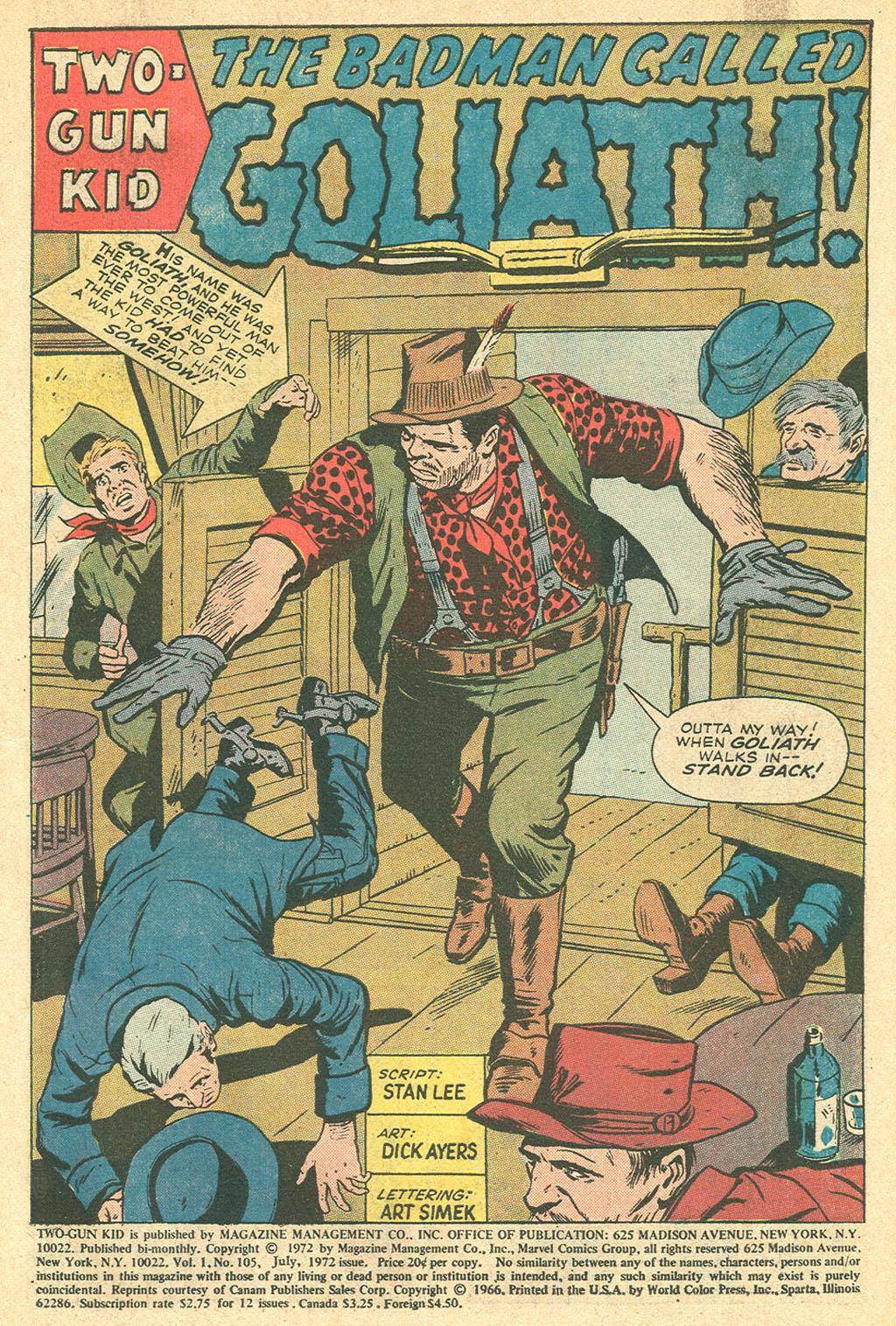Read online Two-Gun Kid comic -  Issue #105 - 3