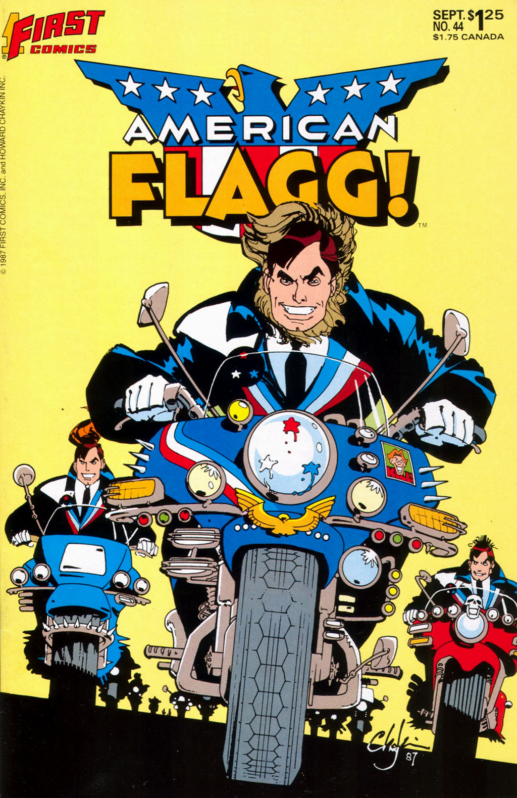 Read online American Flagg! comic -  Issue #44 - 1