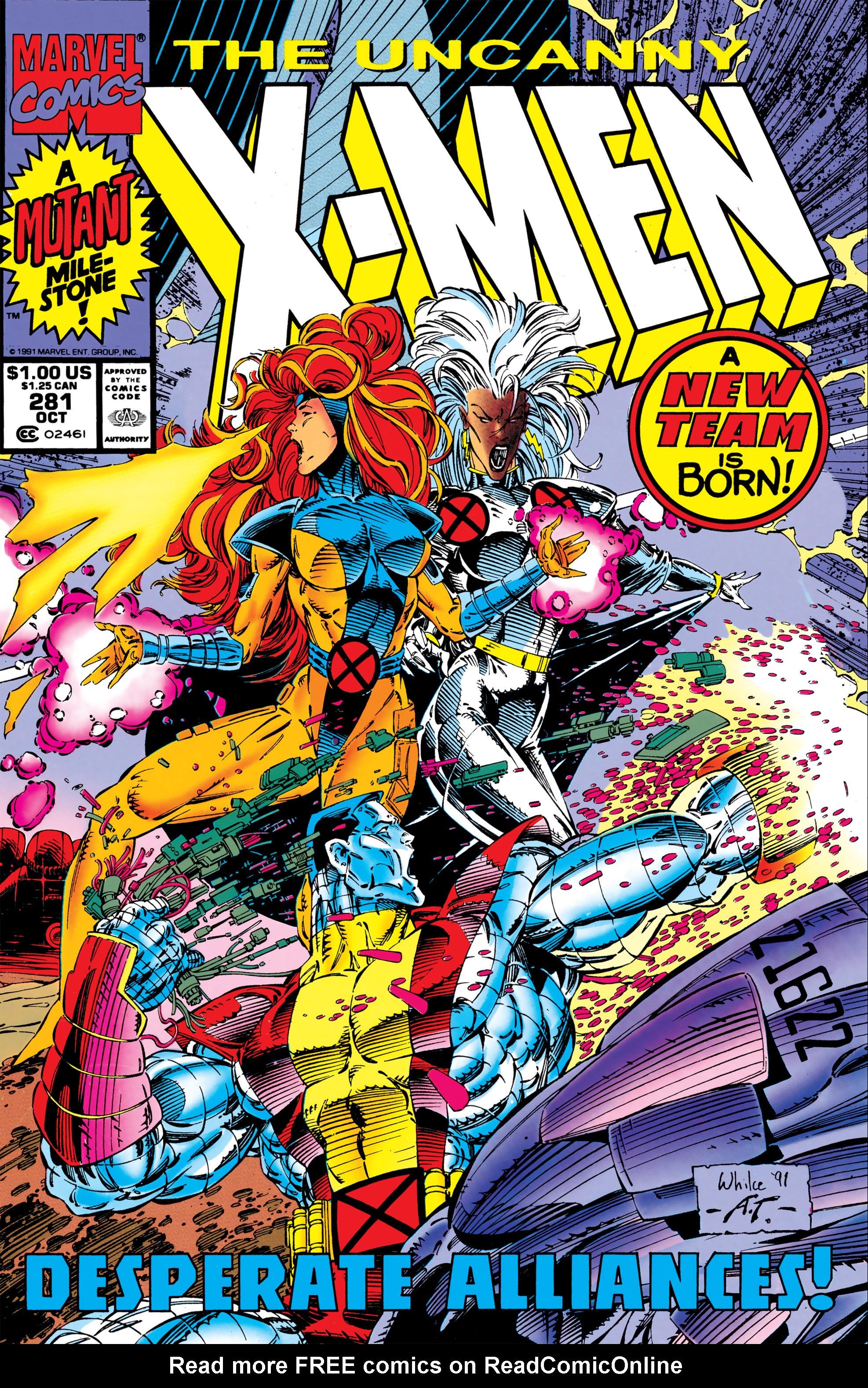 Read online Uncanny X-Men (1963) comic -  Issue #281 - 1