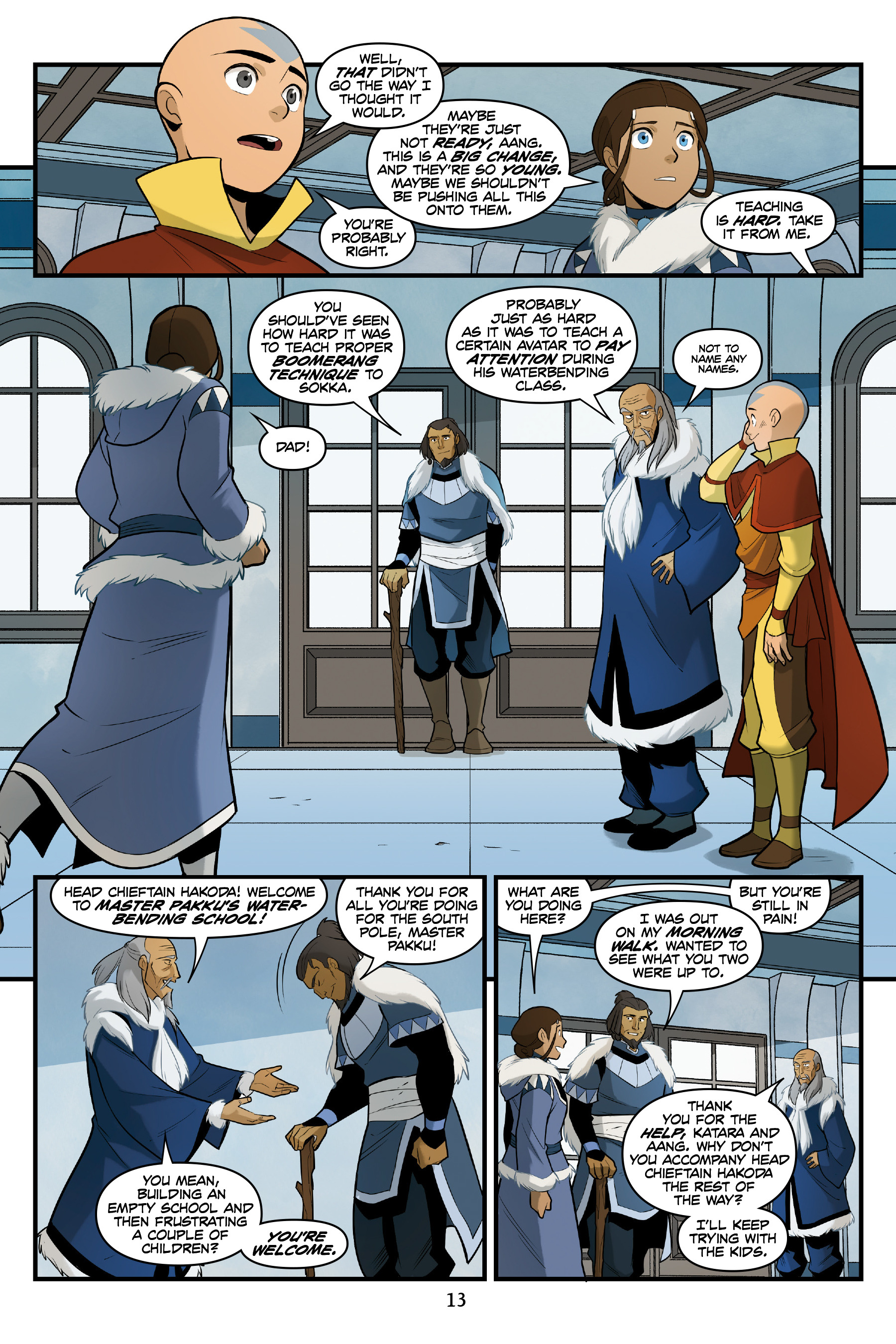 Read online Nickelodeon Avatar: The Last Airbender - North and South comic -  Issue #3 - 14