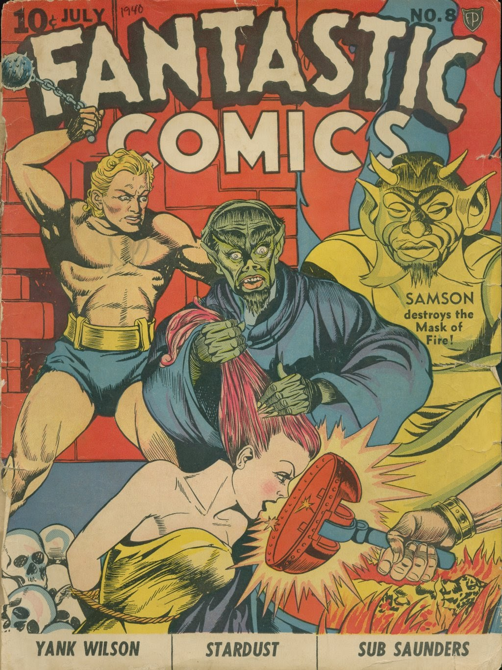 Read online Fantastic Comics comic -  Issue #8 - 1