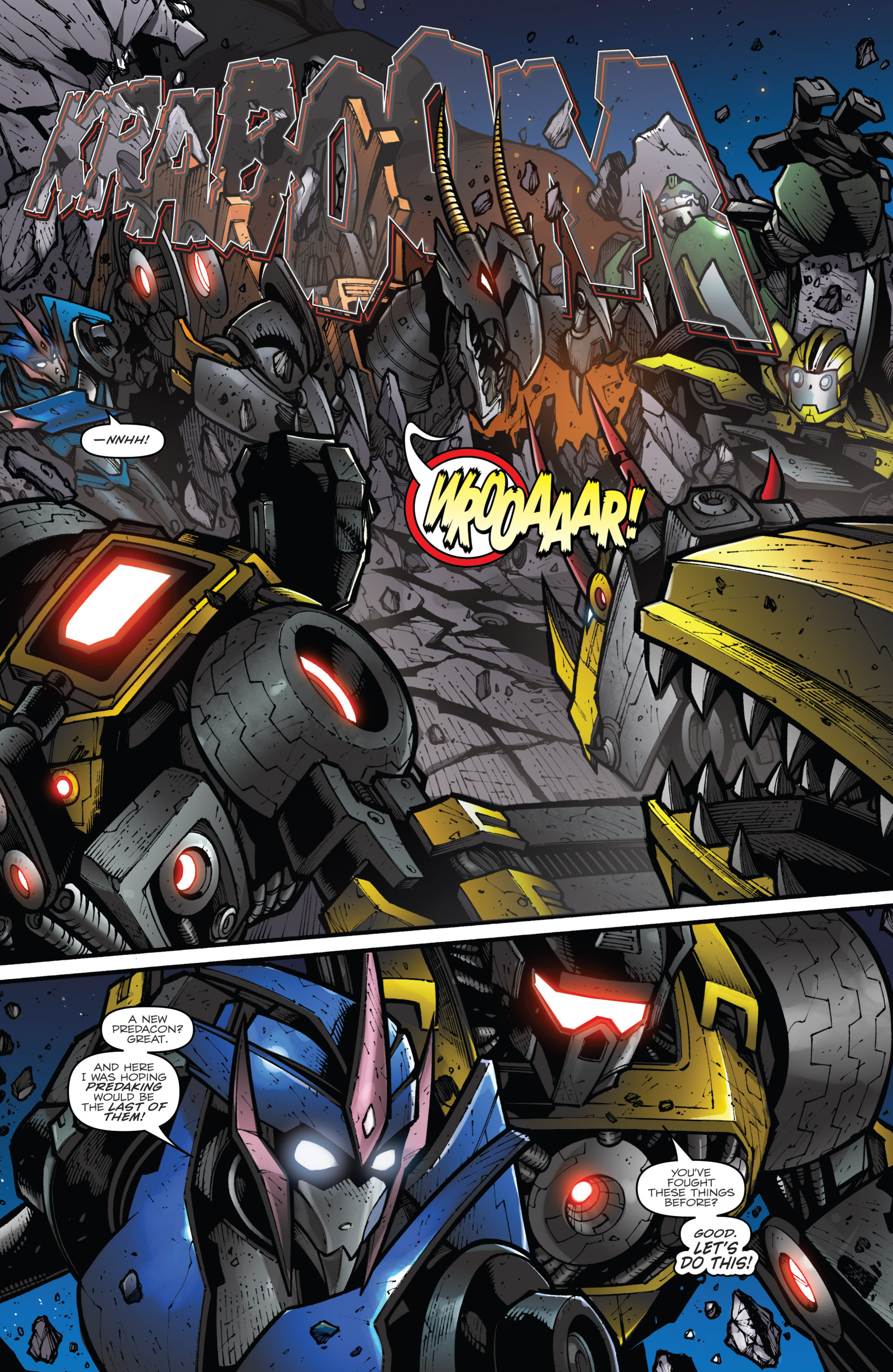 Read online Transformers Prime: Beast Hunters comic -  Issue #8 - 9