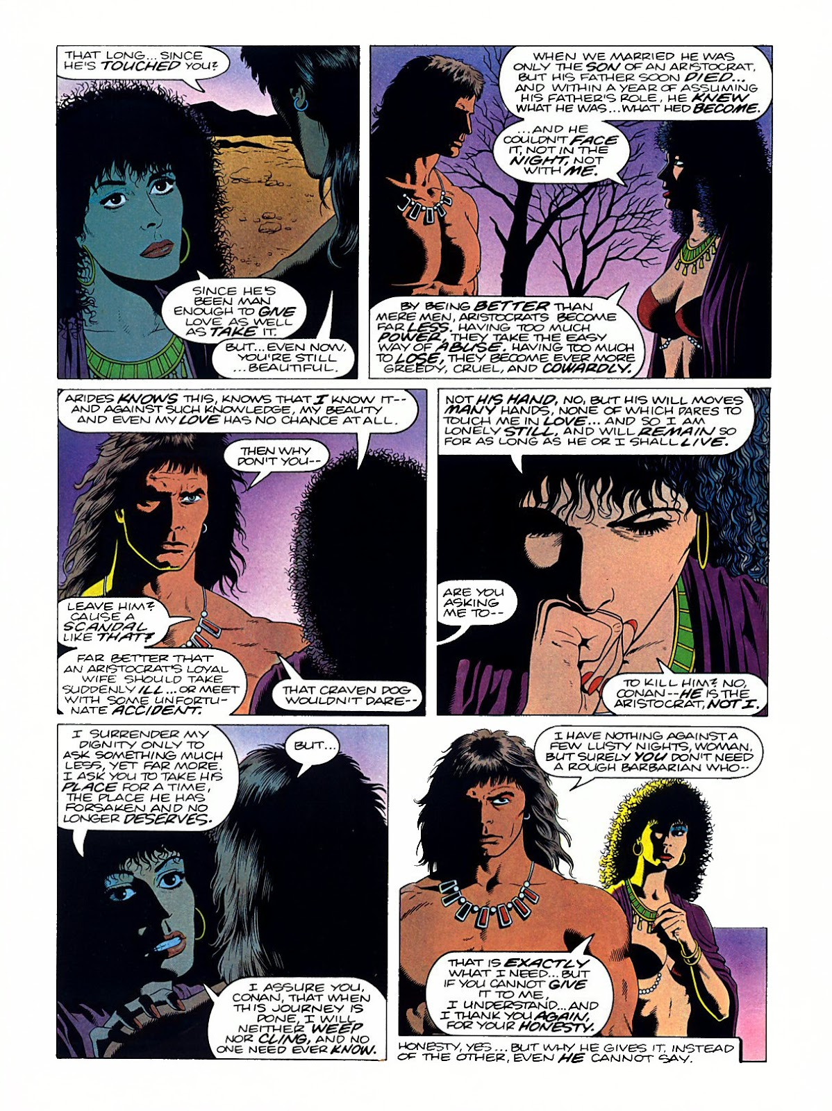 Read online Marvel Graphic Novel: Conan the Barbarian: The Skull of Set comic -  Issue # Full - 25