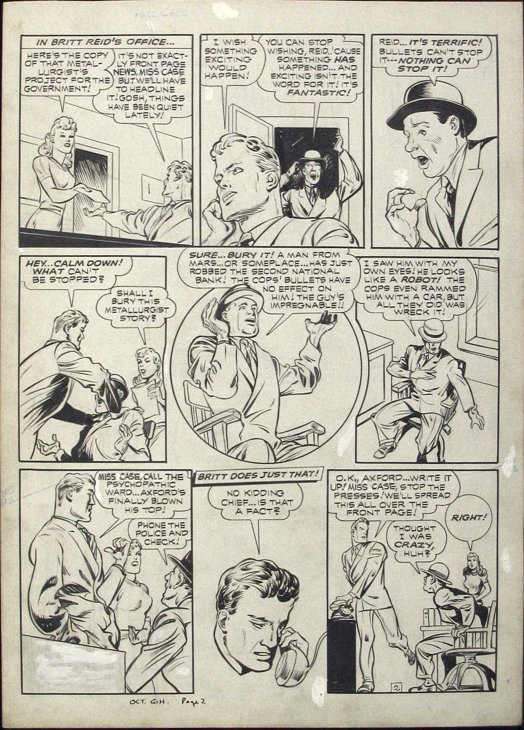Green Hornet Comics issue 9 - Page 2