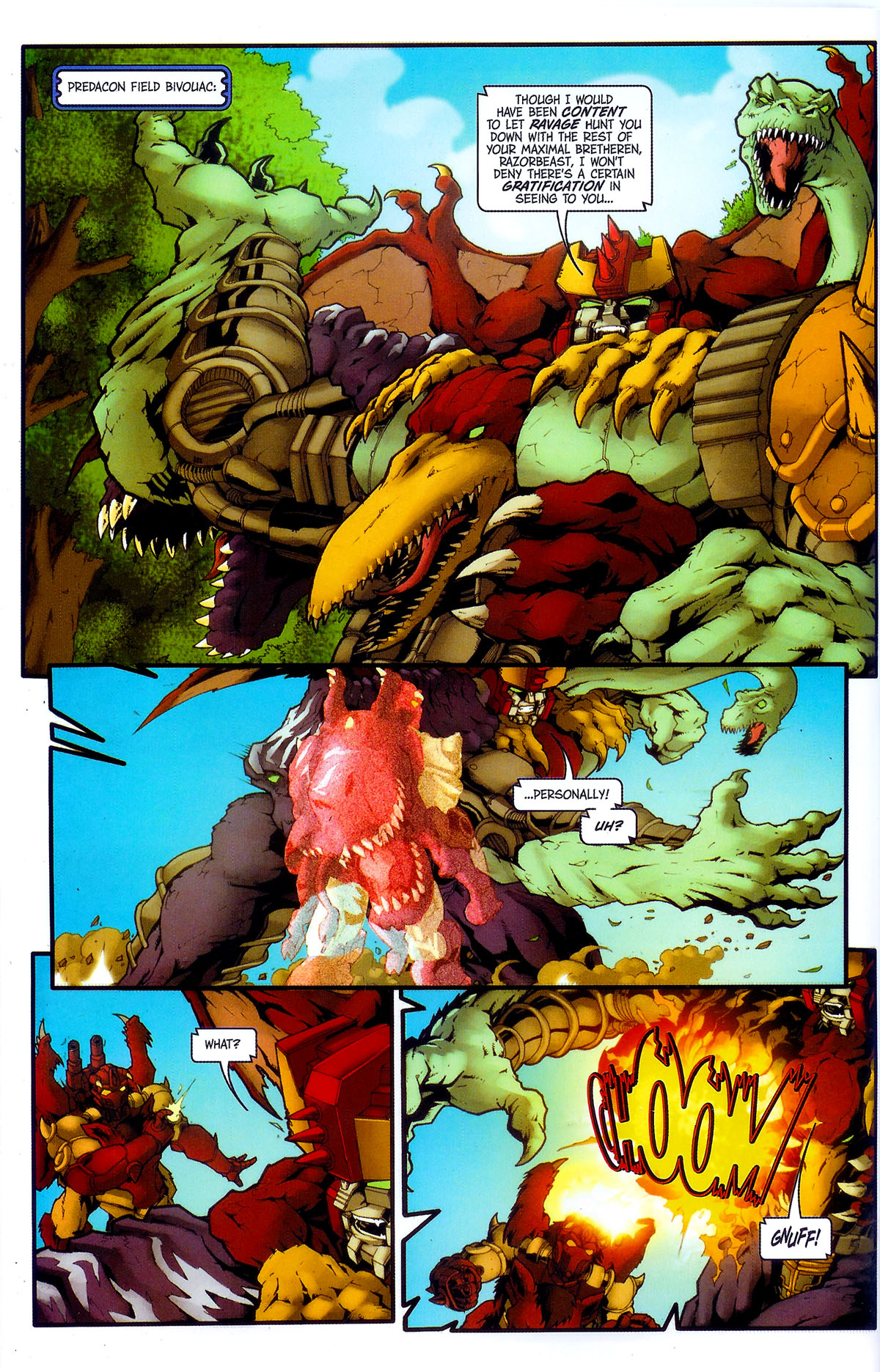 Read online Transformers, Beast Wars: The Gathering comic -  Issue #4 - 17