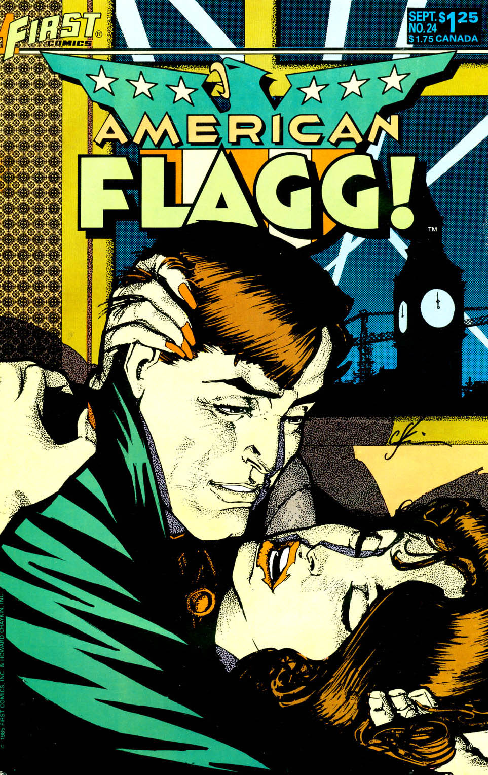 Read online American Flagg! comic -  Issue #24 - 1