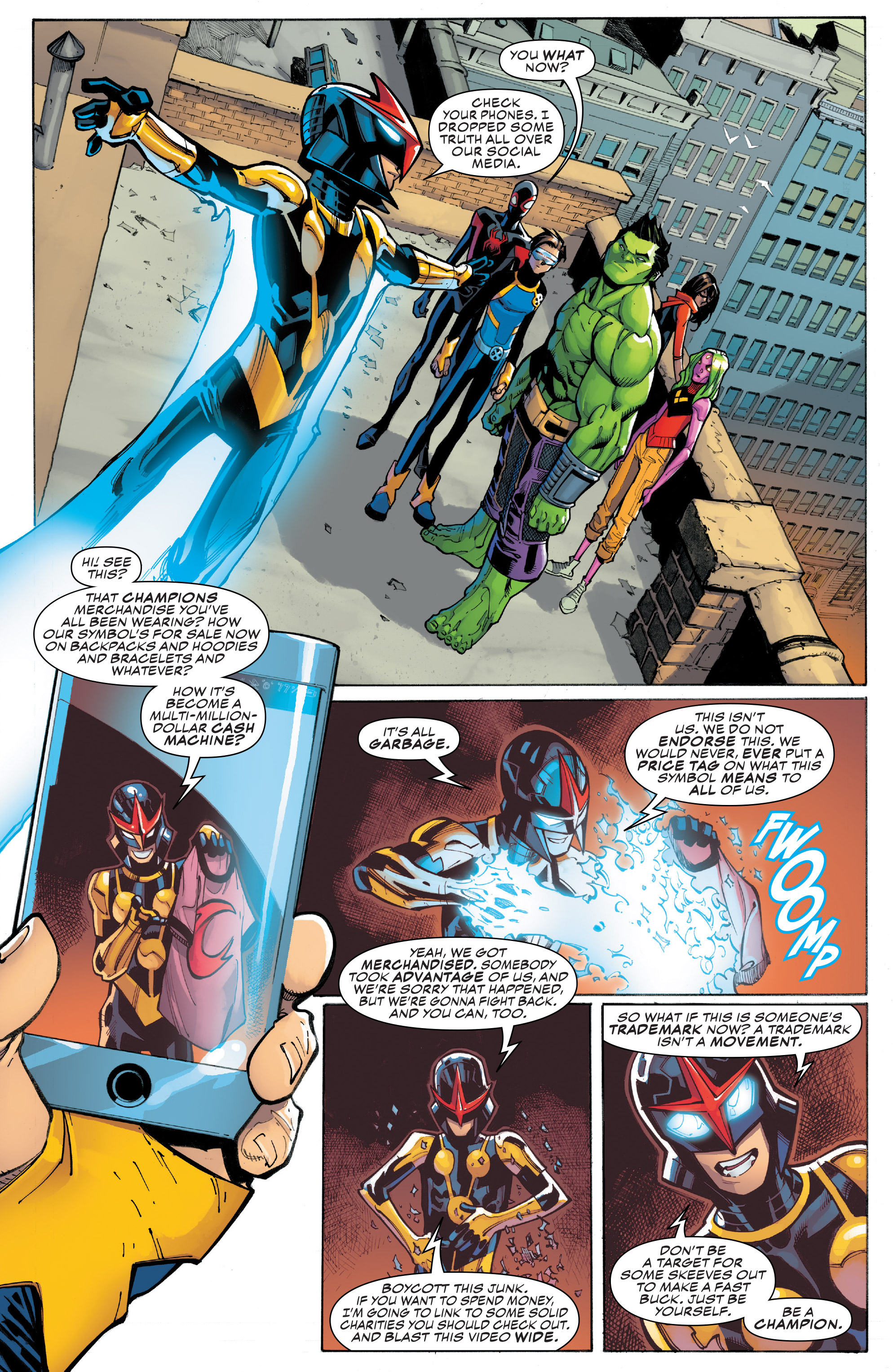 Read online Champions (2016) comic -  Issue #8 - 19