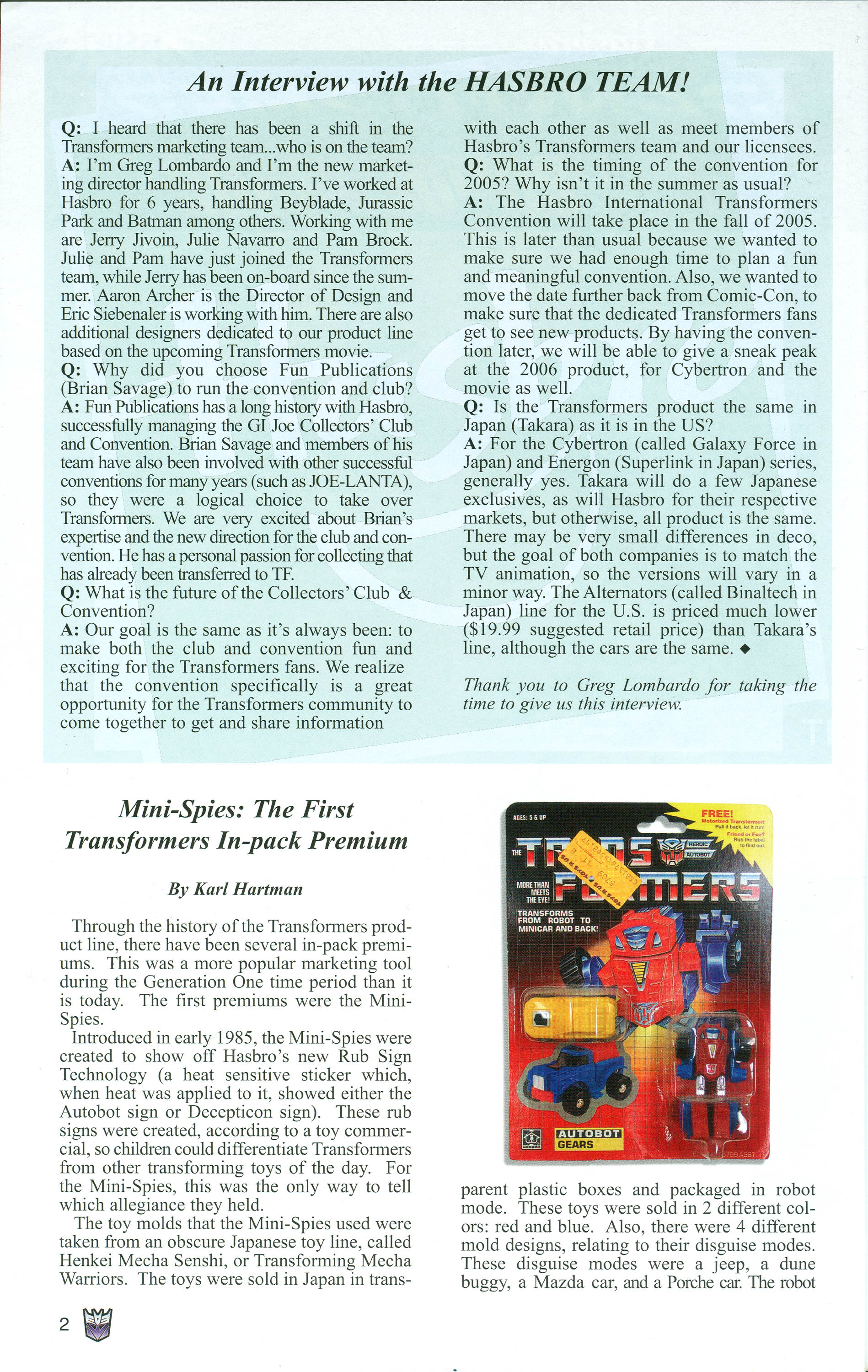 Read online Transformers: Collectors' Club comic -  Issue #1 - 2
