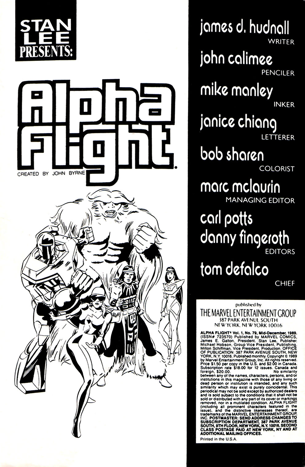 Read online Alpha Flight (1983) comic -  Issue #79 - 2