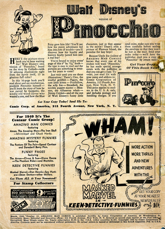 Read online Amazing Man Comics comic -  Issue #10 - 3