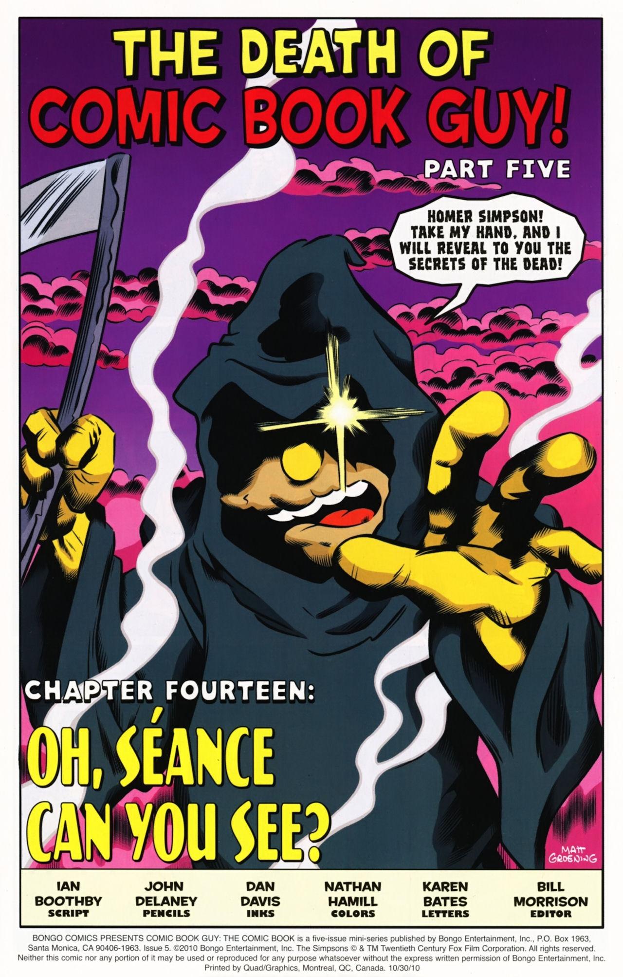 Read online Bongo Comics presents Comic Book Guy: The Comic Book comic -  Issue #5 - 3