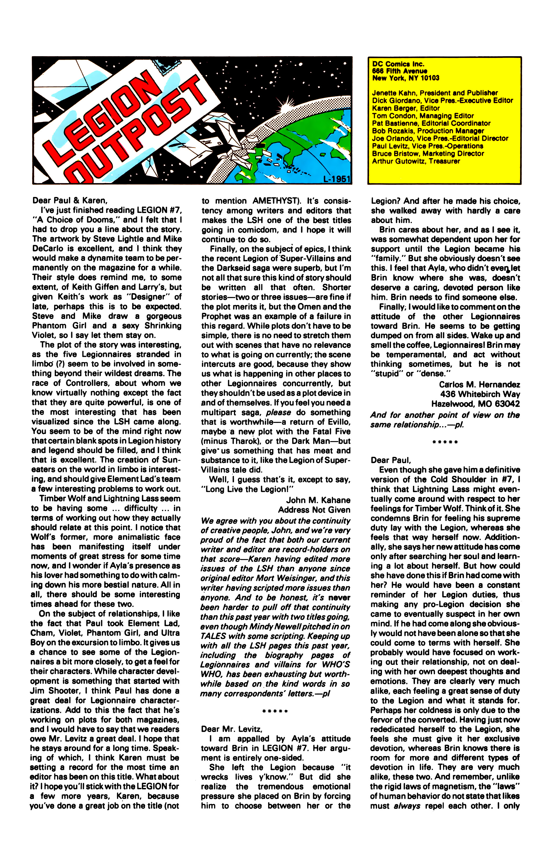 Legion of Super-Heroes (1984) 12 Page 25