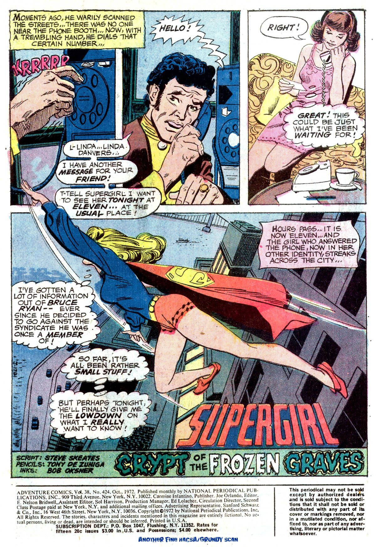 Read online Adventure Comics (1938) comic -  Issue #424 - 2