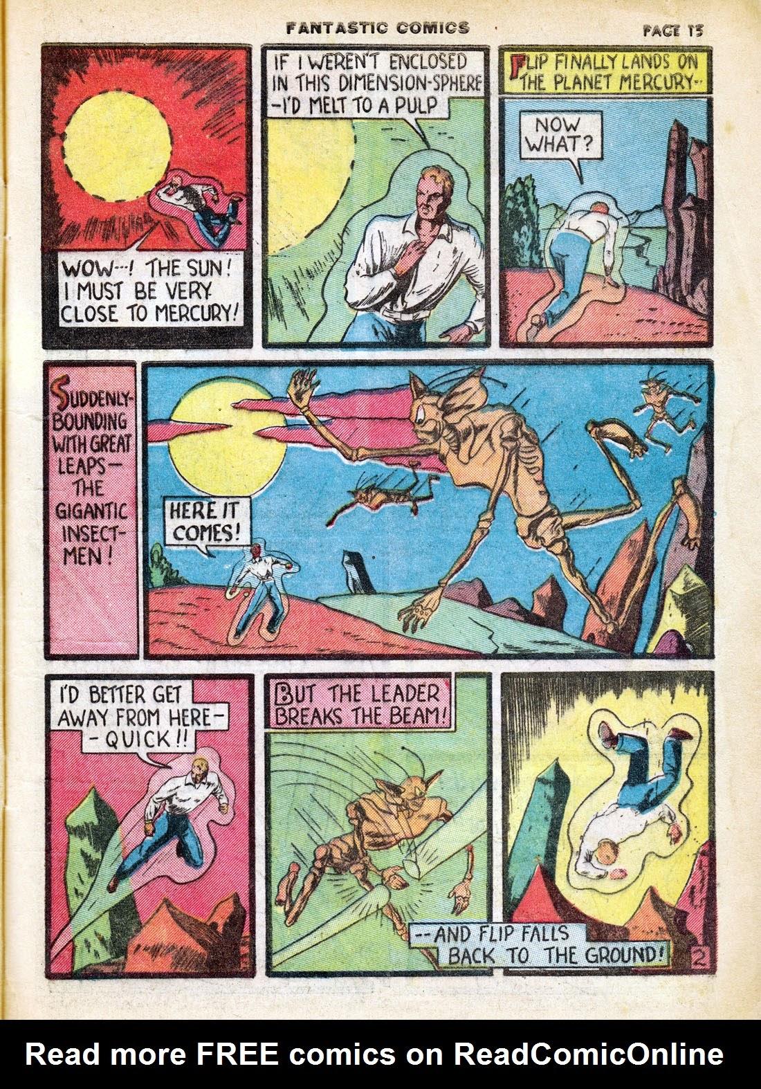 Read online Fantastic Comics comic -  Issue #7 - 17