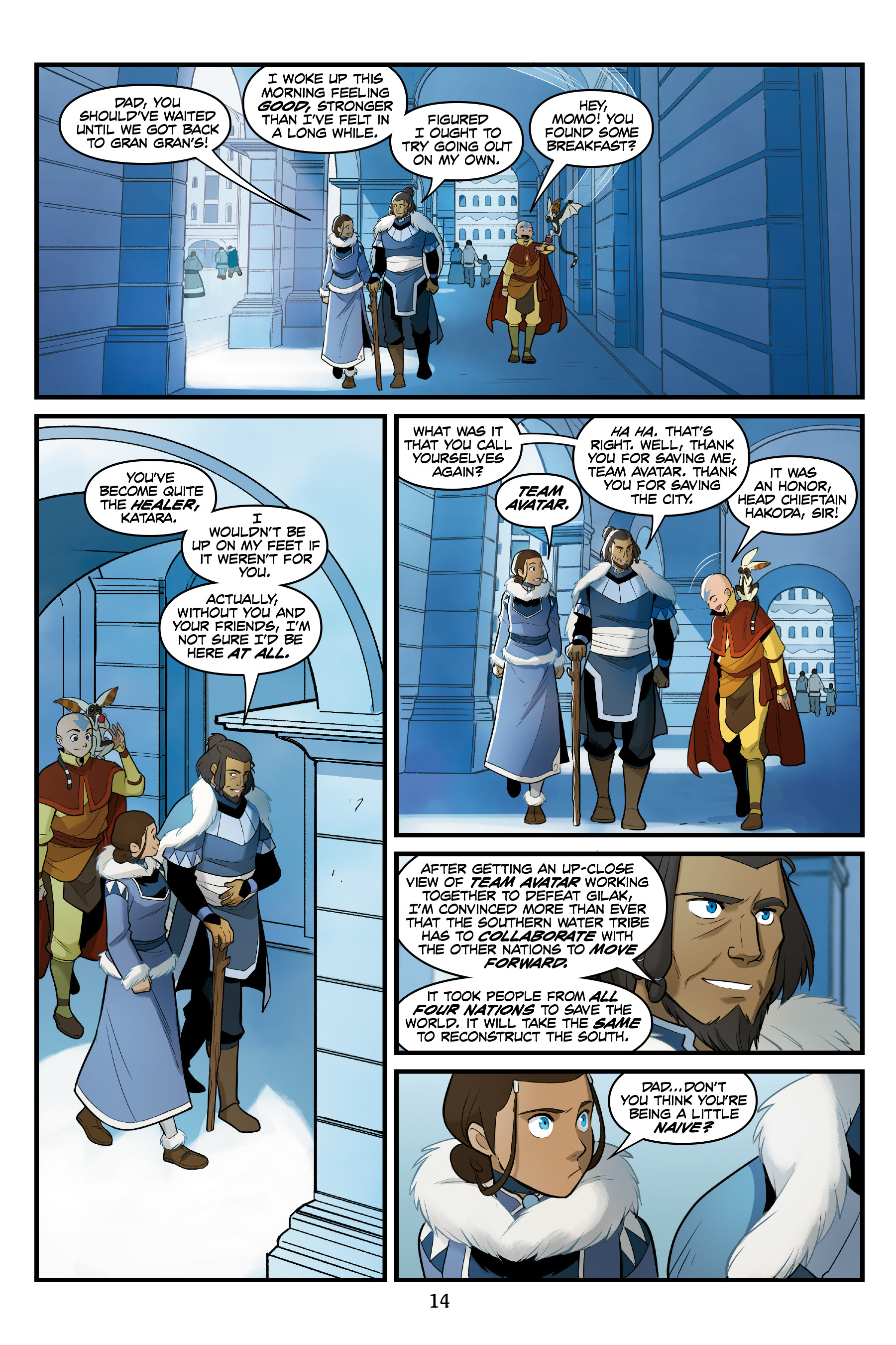 Read online Nickelodeon Avatar: The Last Airbender - North and South comic -  Issue #3 - 15
