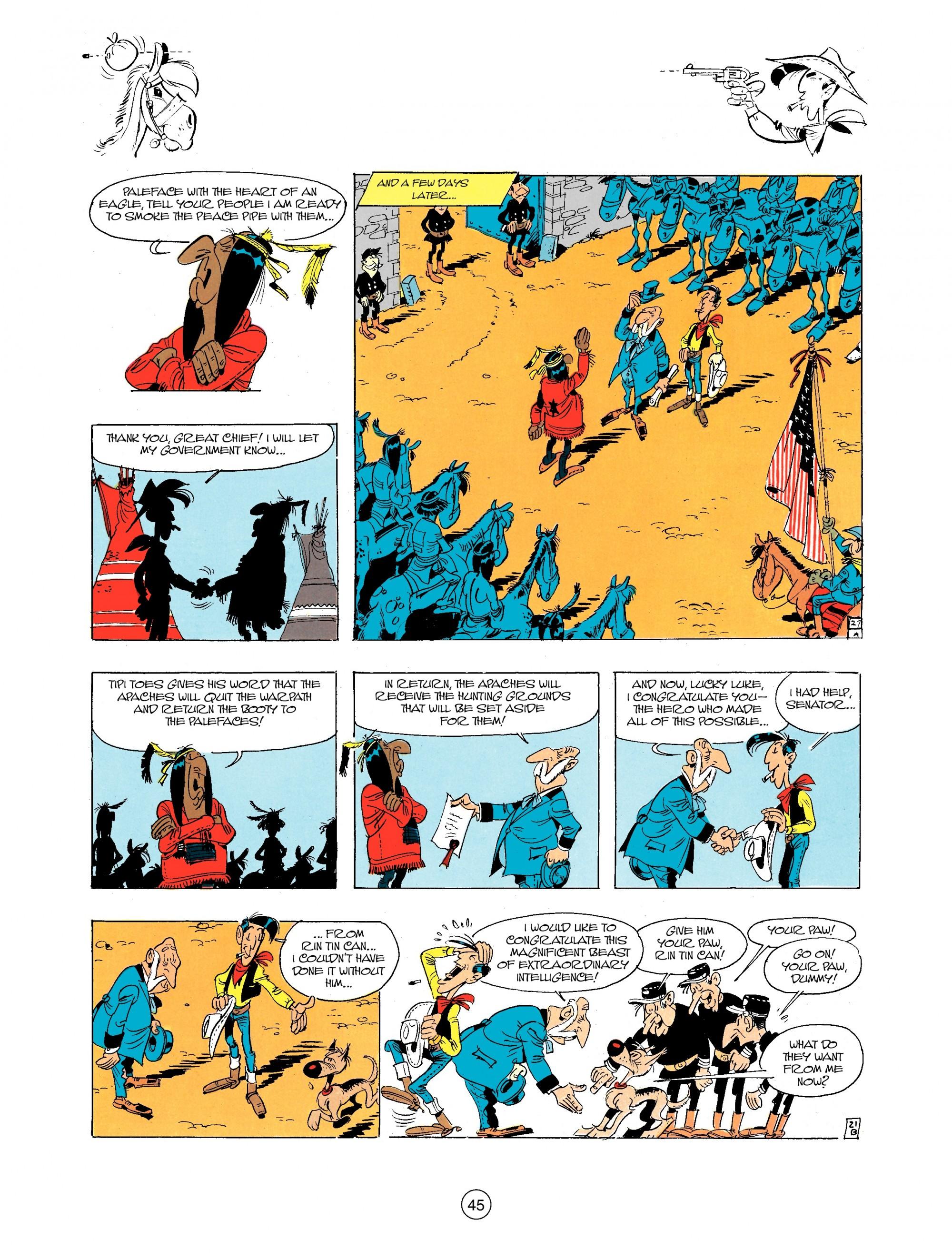 Read online A Lucky Luke Adventure comic -  Issue #34 - 45