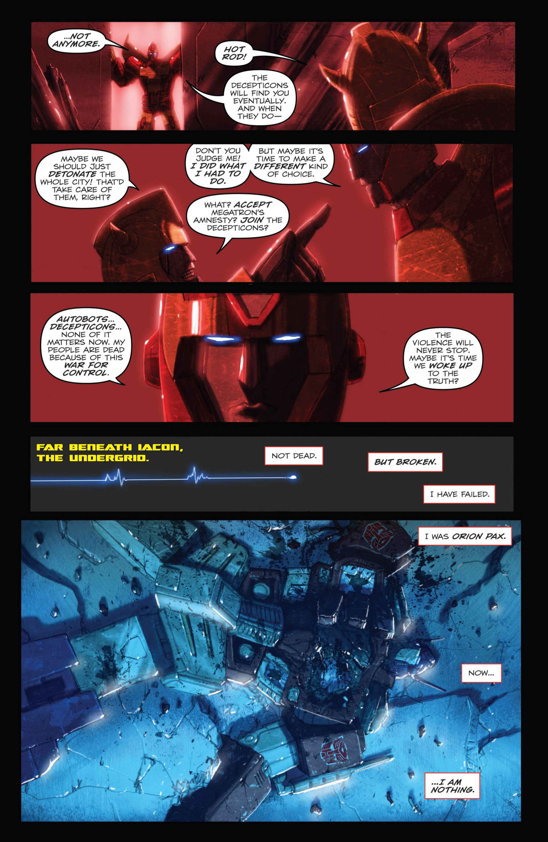 Read online Transformers: Autocracy comic -  Issue # Full - 81