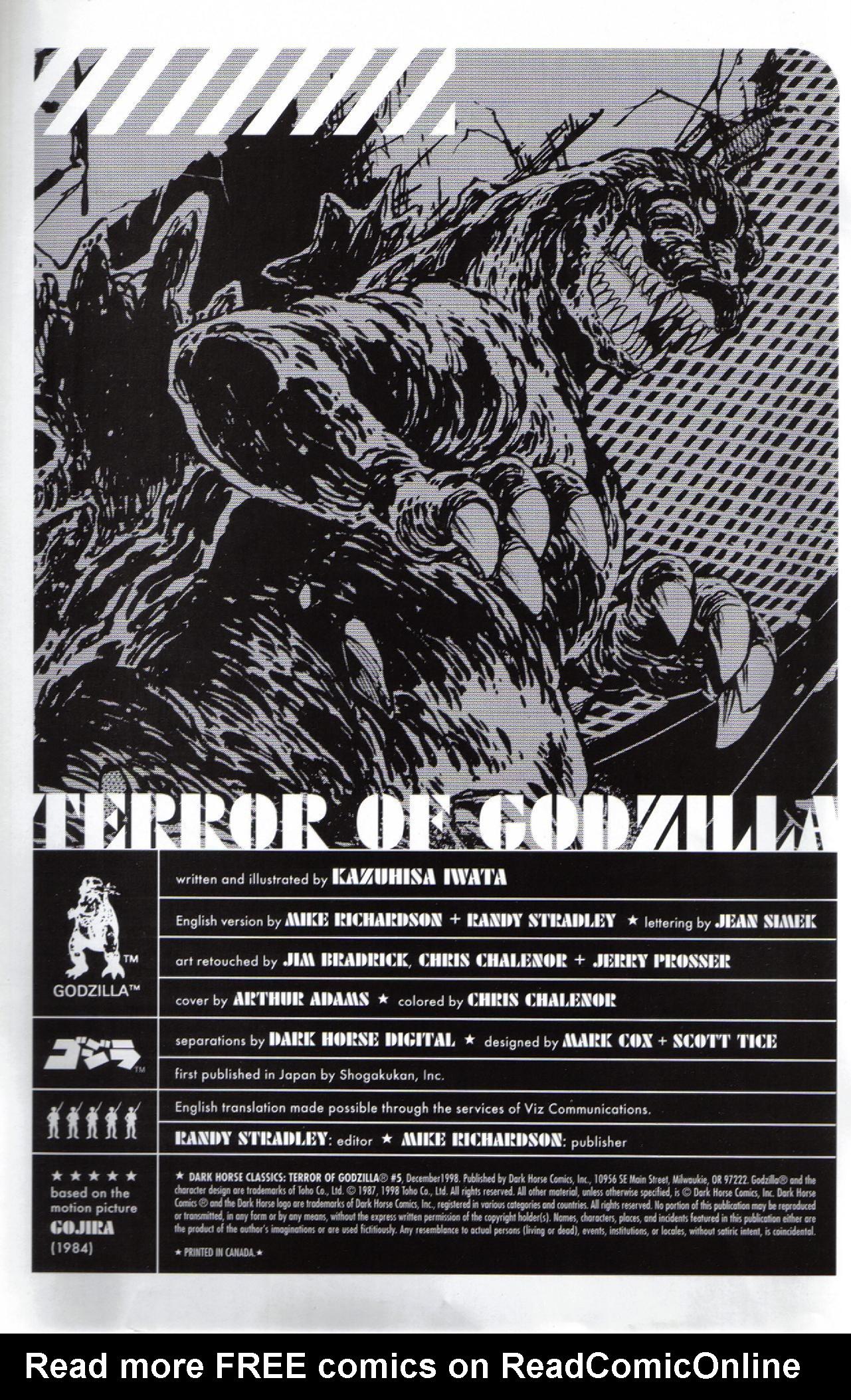 Read online Dark Horse Classics: Terror of Godzilla comic -  Issue #5 - 2