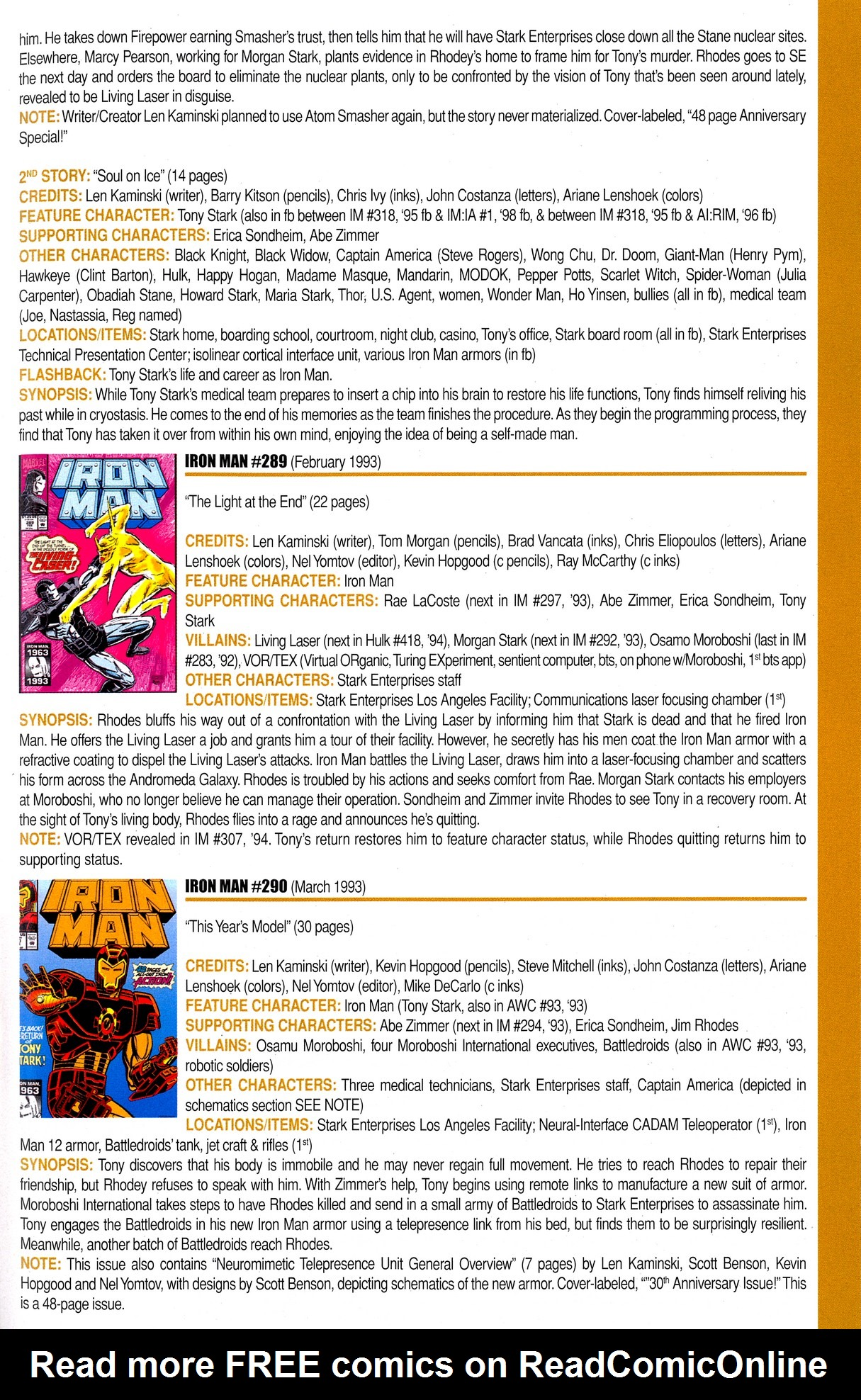 Read online Official Index to the Marvel Universe comic -  Issue #8 - 41