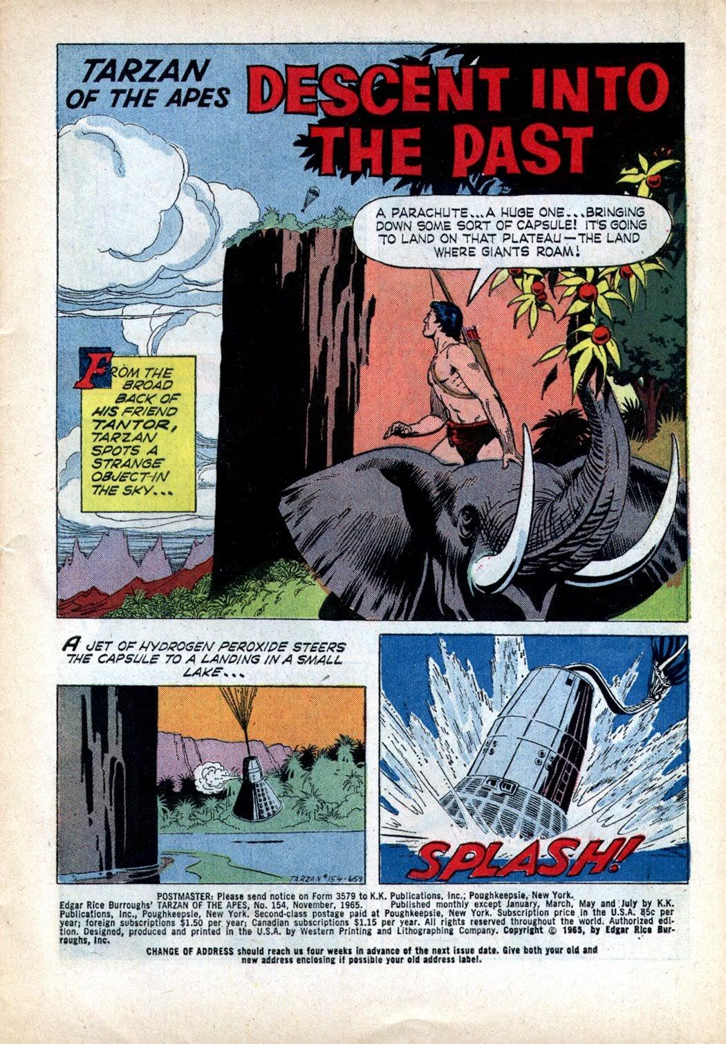 Tarzan (1962) issue 154 - Page 1
