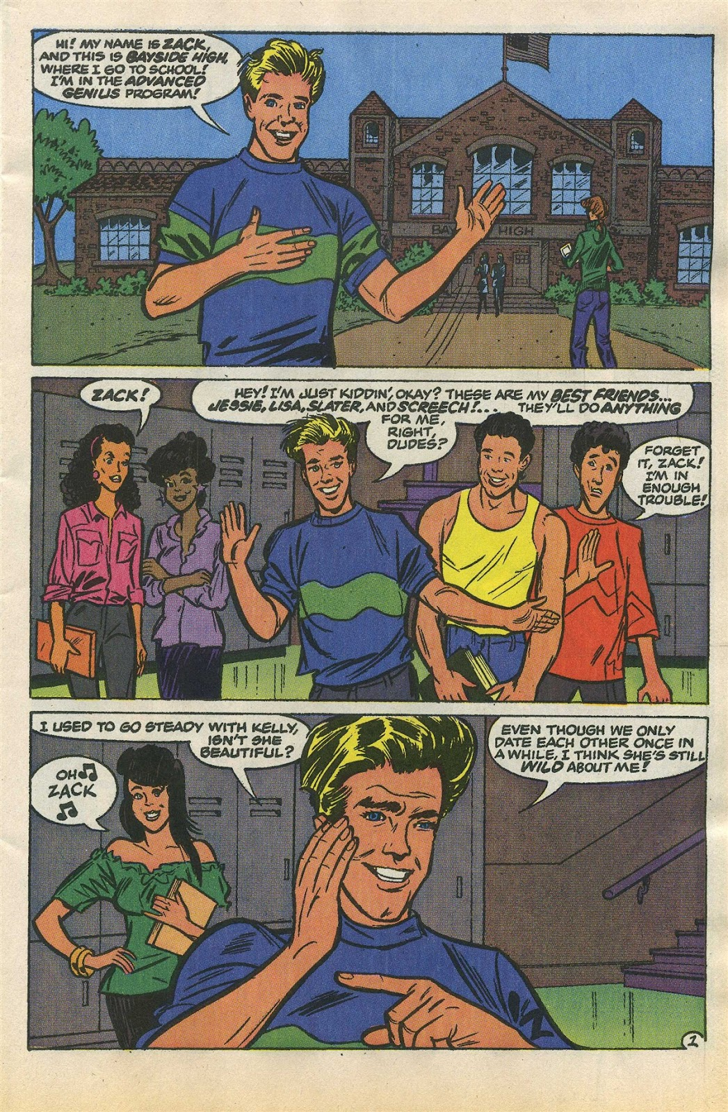 Read online Saved By The Bell comic -  Issue #1 - 3