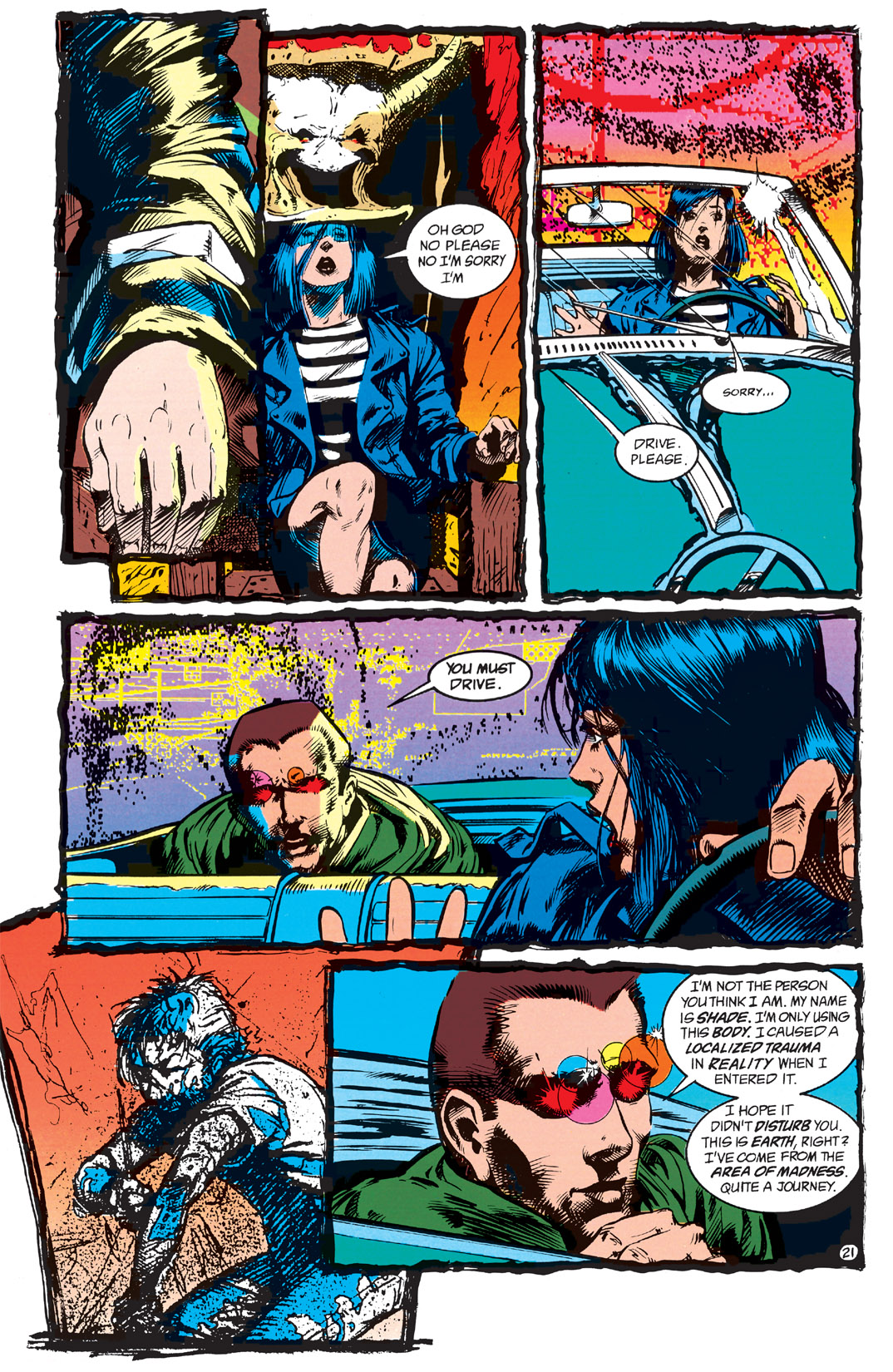 Read online Shade, the Changing Man comic -  Issue #1 - 23