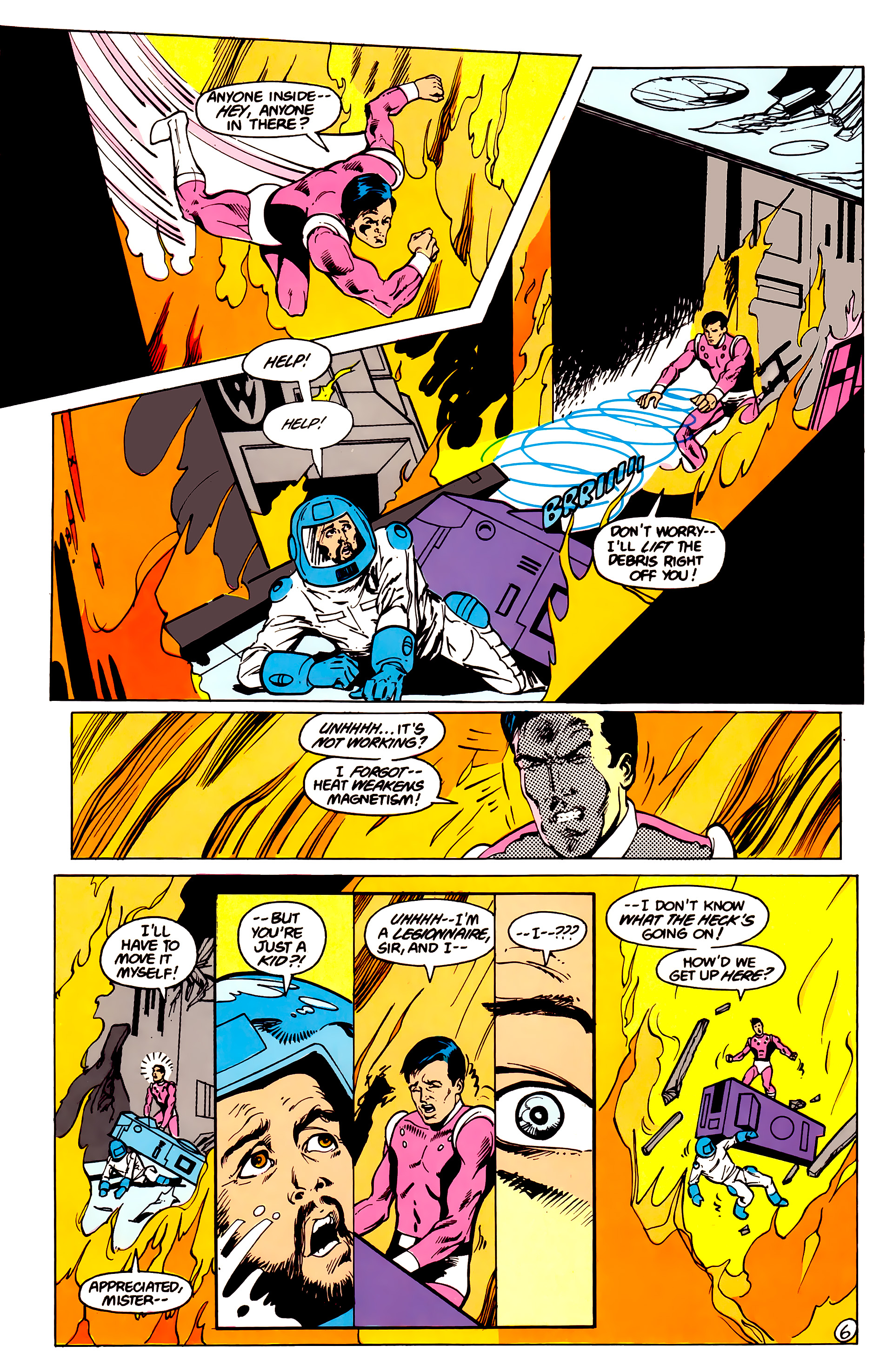 Legion of Super-Heroes (1984) 16 Page 7