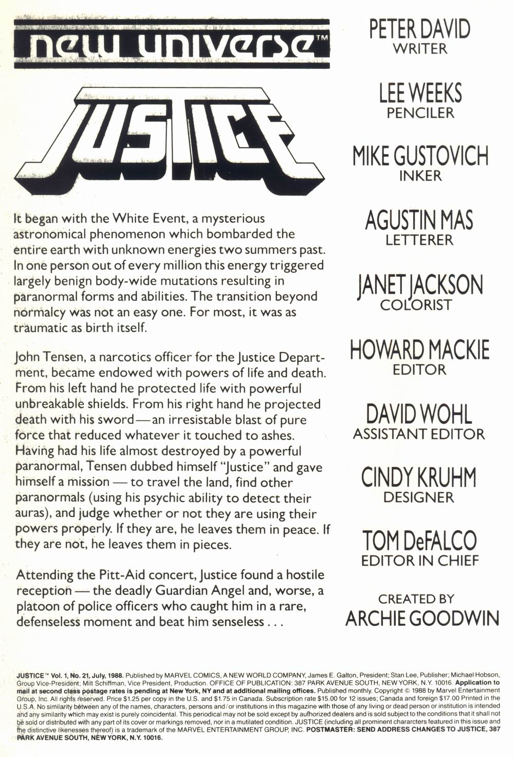 Justice (1986) 21 Page 2