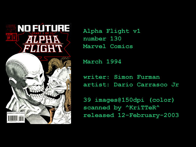 Read online Alpha Flight (1983) comic -  Issue #130 - 1