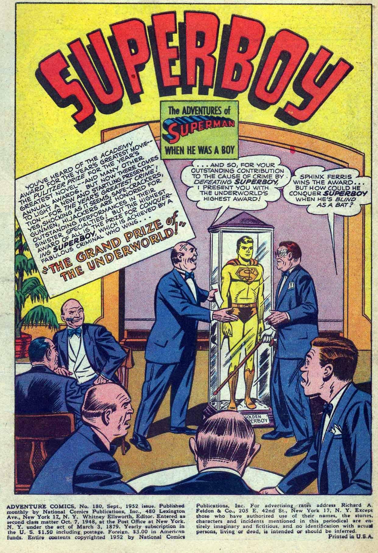 Read online Adventure Comics (1938) comic -  Issue #180 - 3