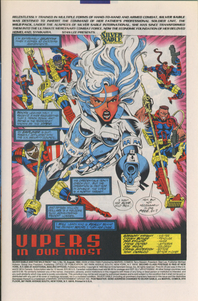 Read online Silver Sable and the Wild Pack comic -  Issue #15 - 2