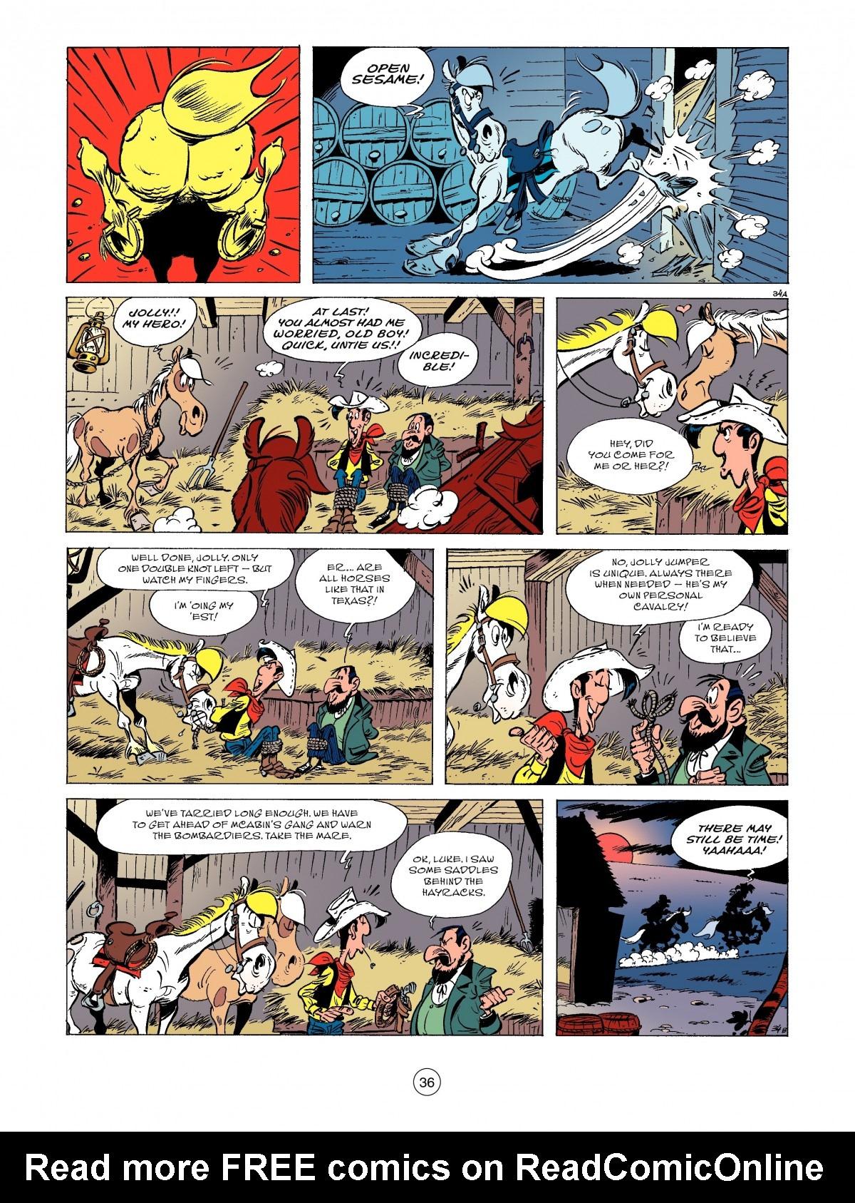 Read online A Lucky Luke Adventure comic -  Issue #52 - 38