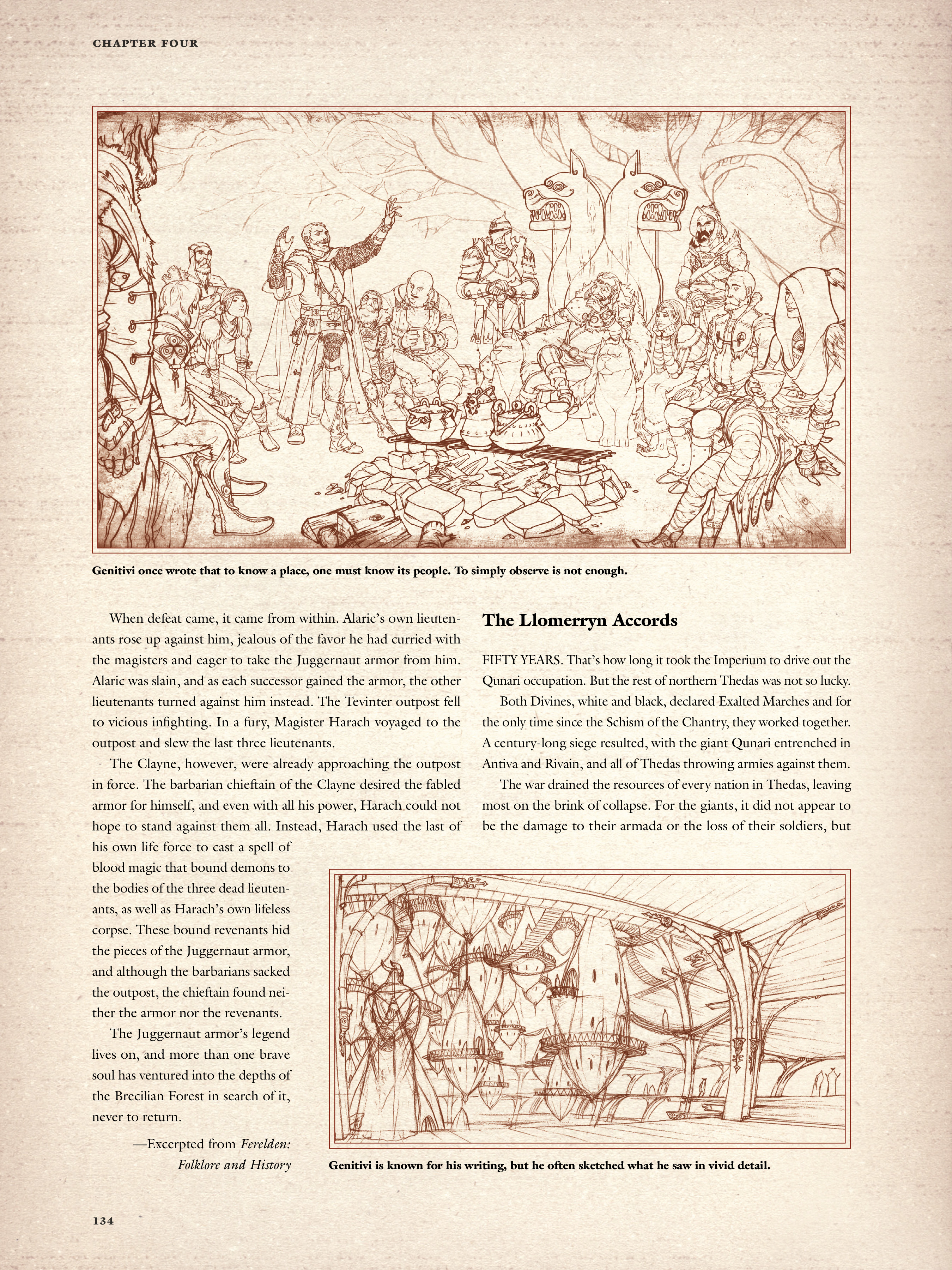 Read online Dragon Age: The World of Thedas comic -  Issue # TPB 2 - 130