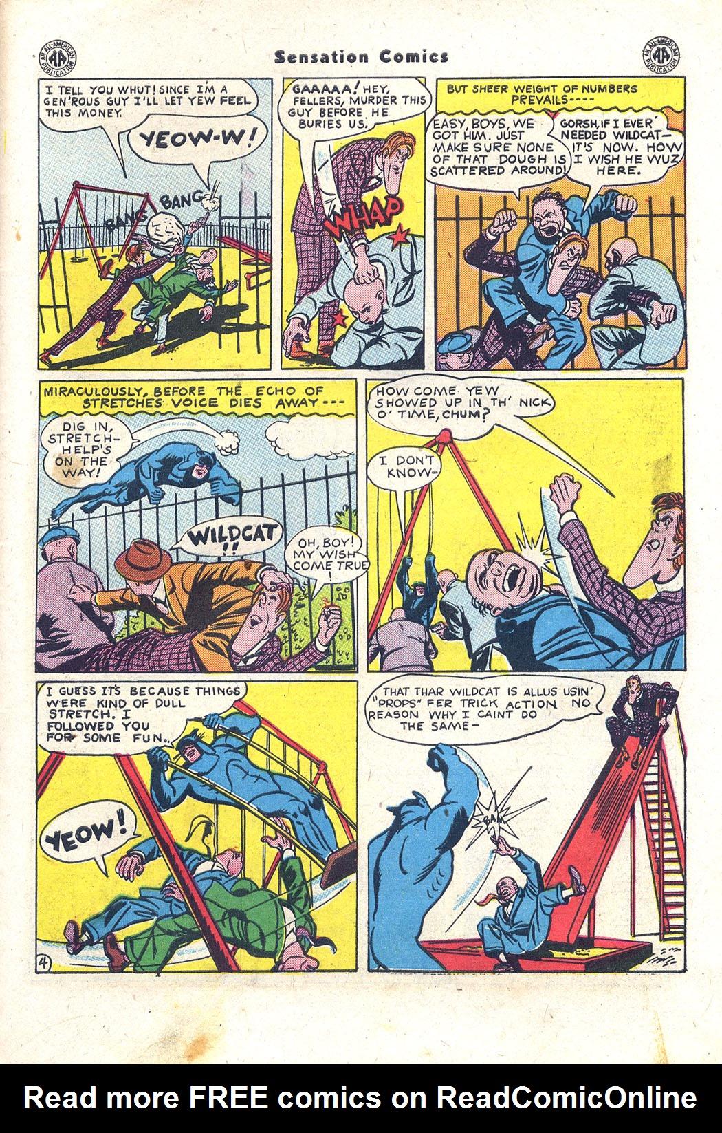Read online Sensation (Mystery) Comics comic -  Issue #43 - 44