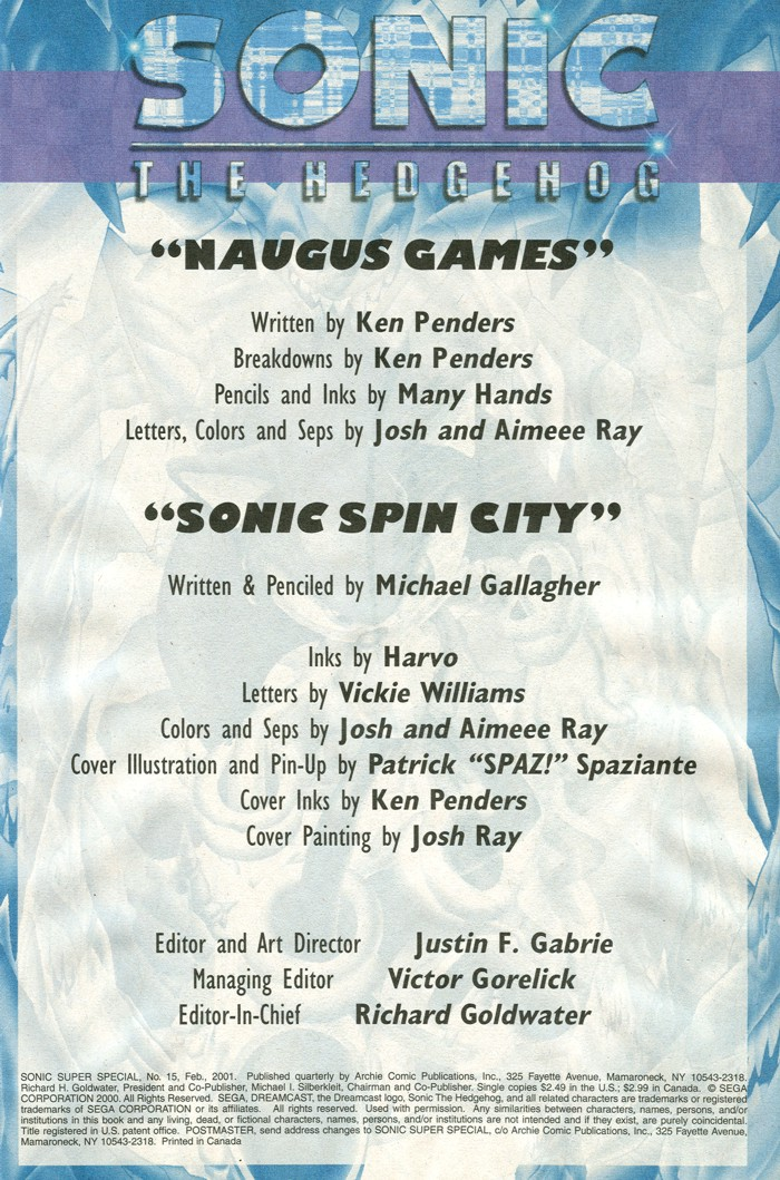 Read online Sonic Super Special comic -  Issue #15 - Naugus games - 2