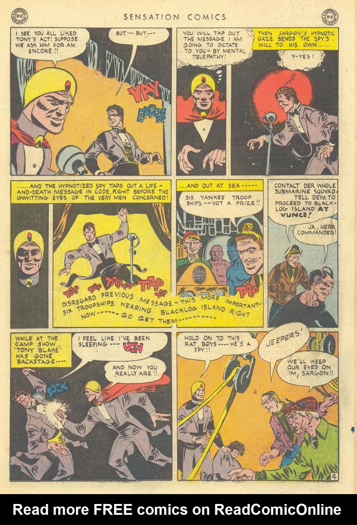 Read online Sensation (Mystery) Comics comic -  Issue #35 - 20