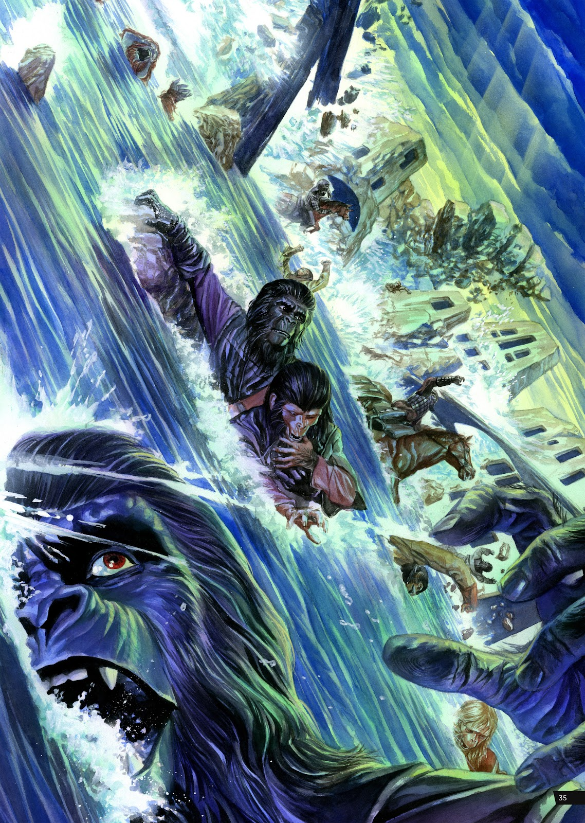 Read online Planet of the Apes Artist Tribute comic -  Issue # TPB - 35