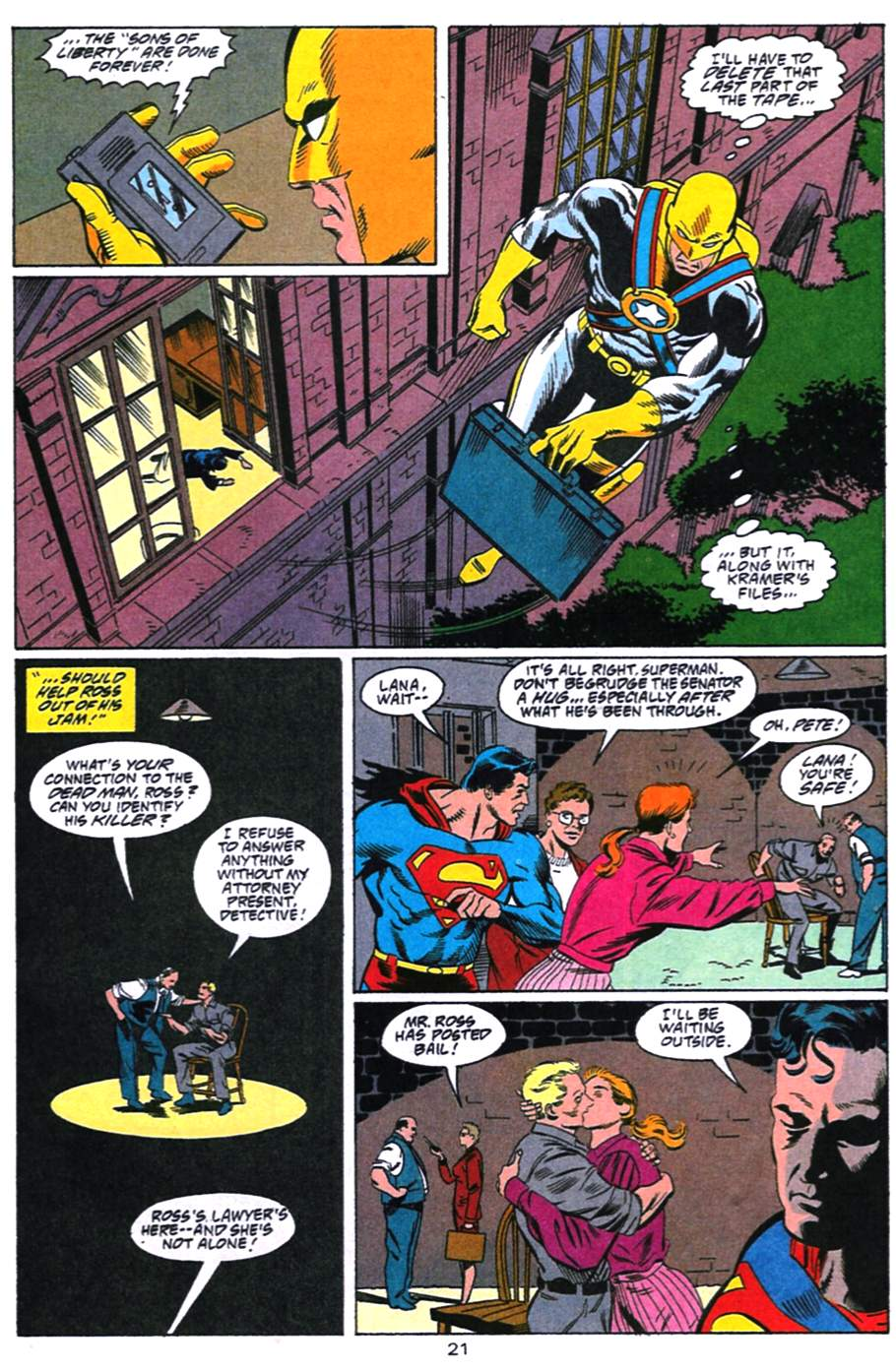 Read online Adventures of Superman (1987) comic -  Issue #492 - 22
