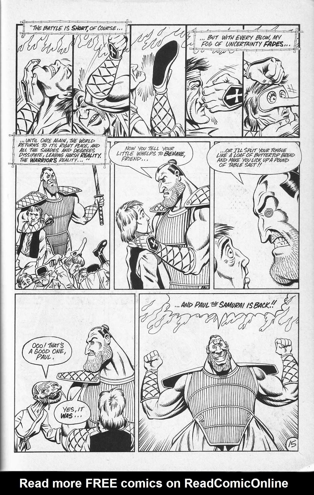 Read online Paul the Samurai (1991) comic -  Issue # TPB - 81