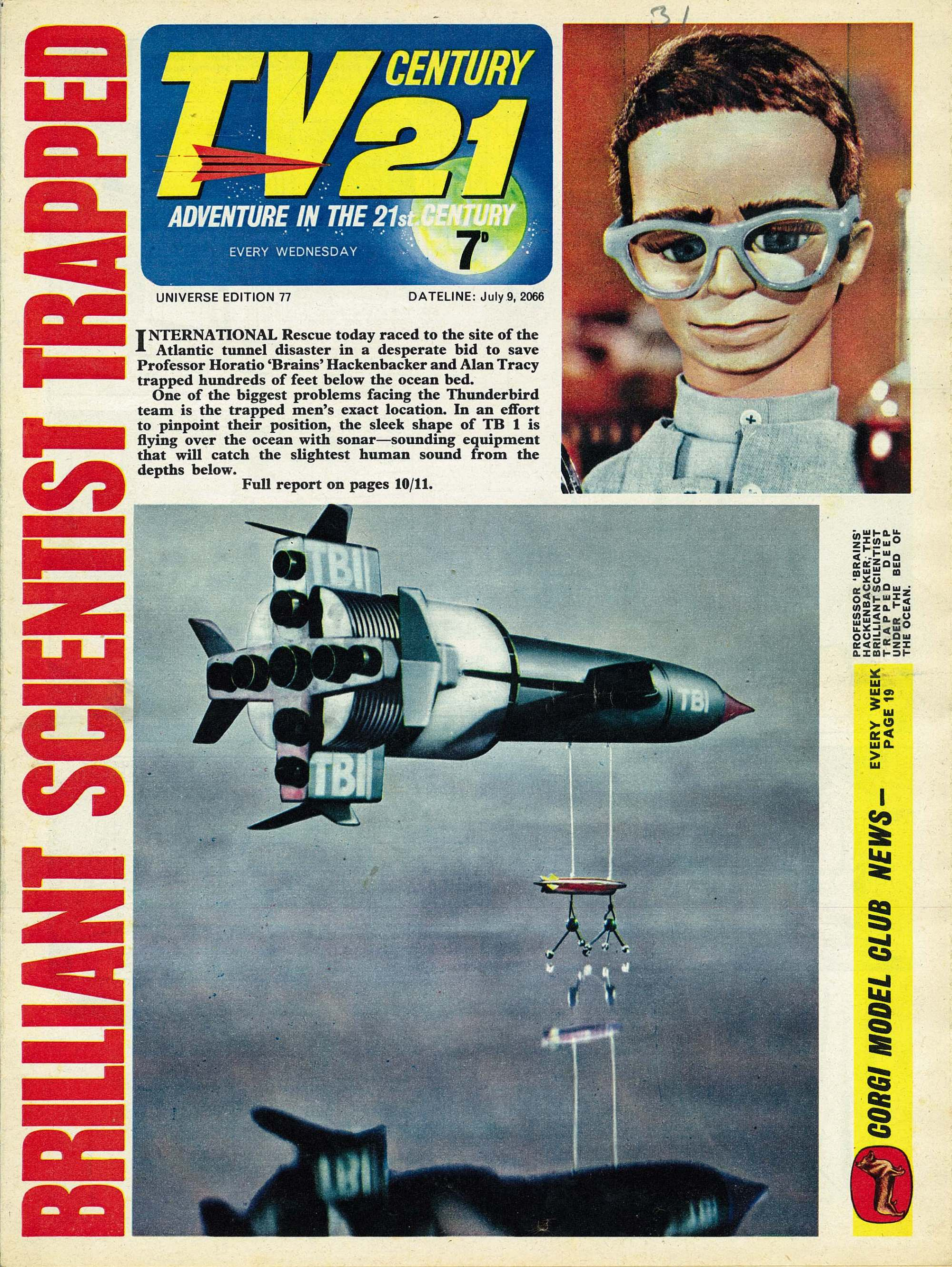Read online TV Century 21 (TV 21) comic -  Issue #77 - 1