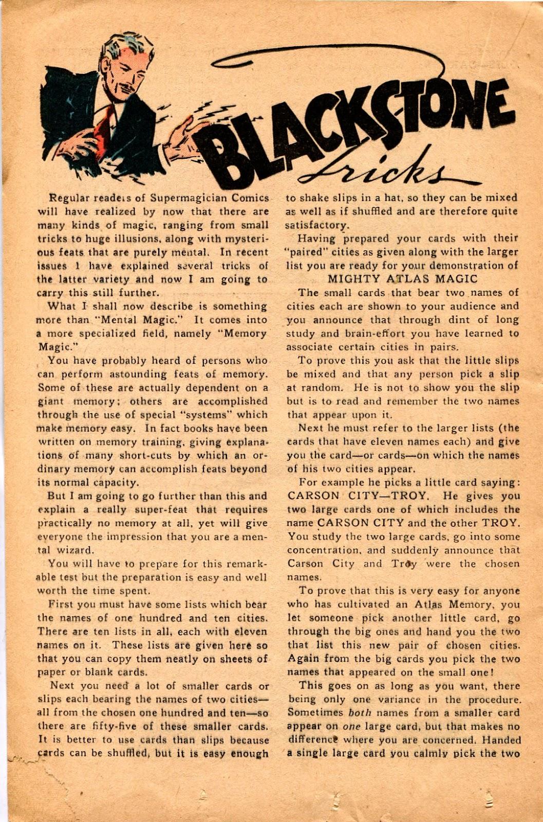 Read online Super-Magician Comics comic -  Issue #34 - 30