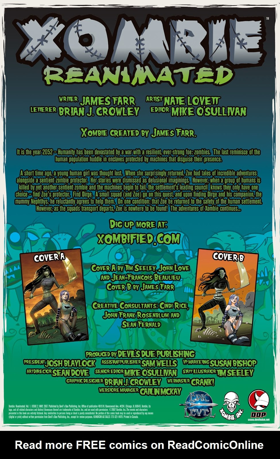 Read online Xombie Reanimated comic -  Issue #2 - 3