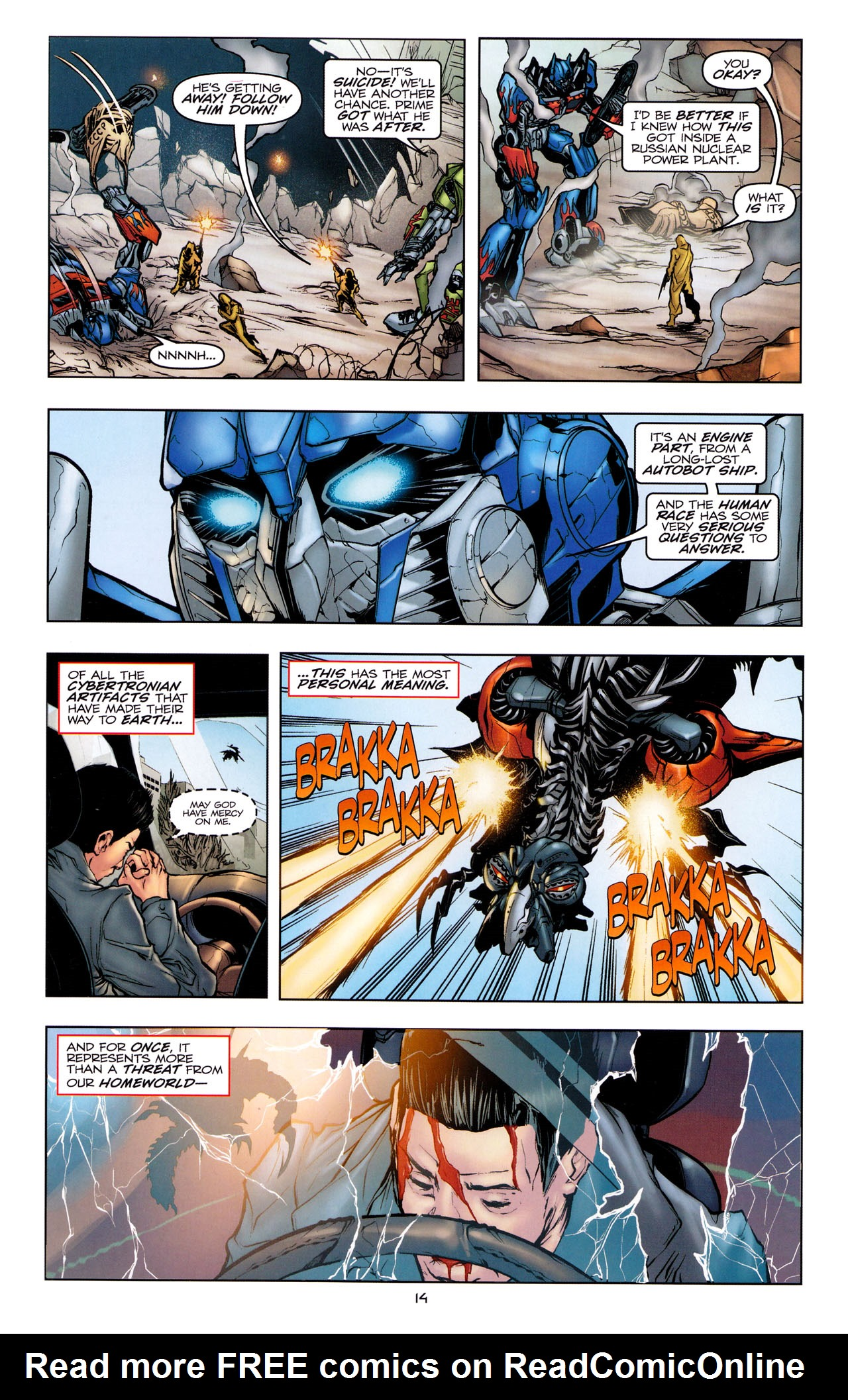 Read online Transformers: Dark of the Moon Movie Adaptation comic -  Issue #1 - 16