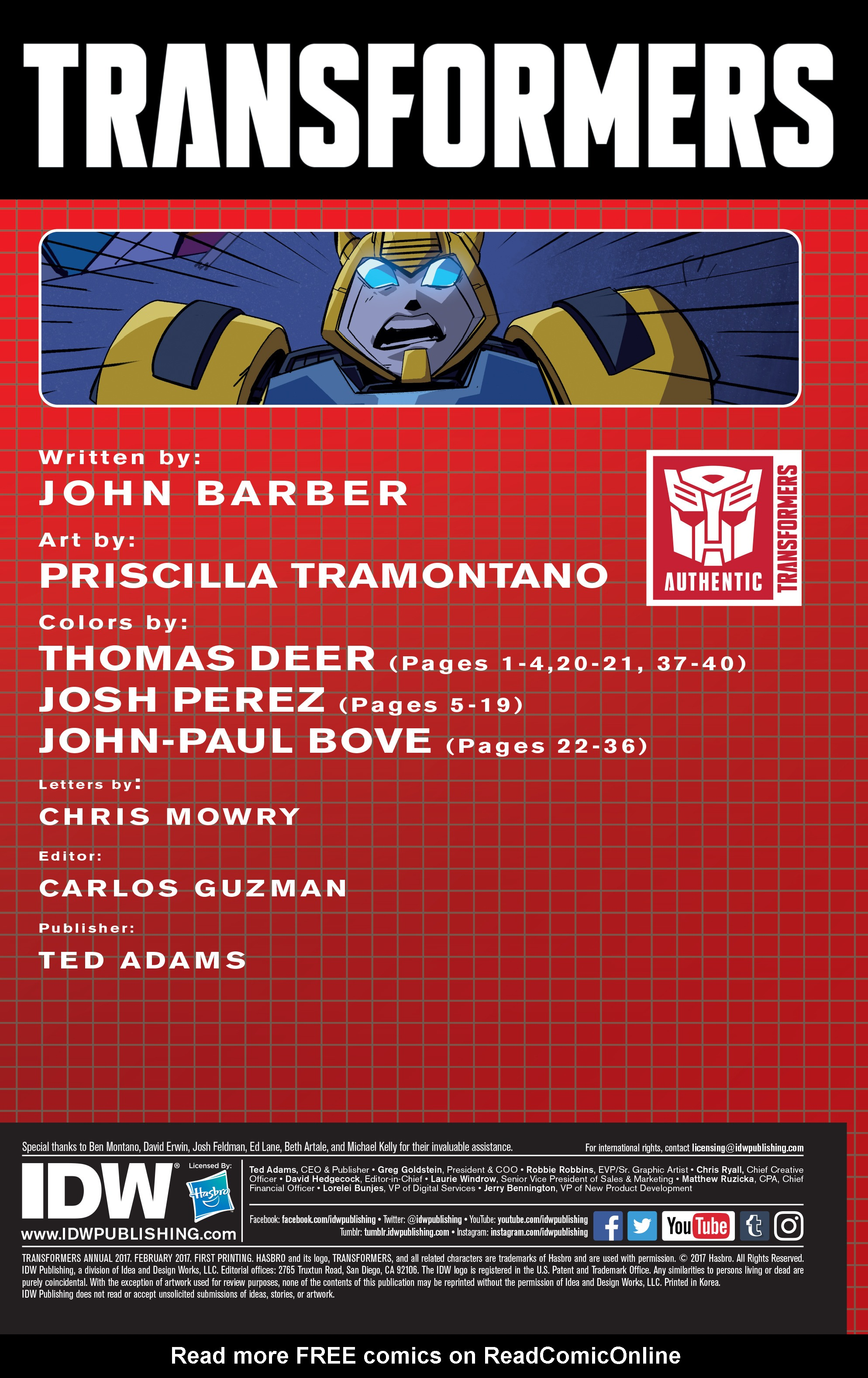 Read online Transformers Annual comic -  Issue # Full - 2