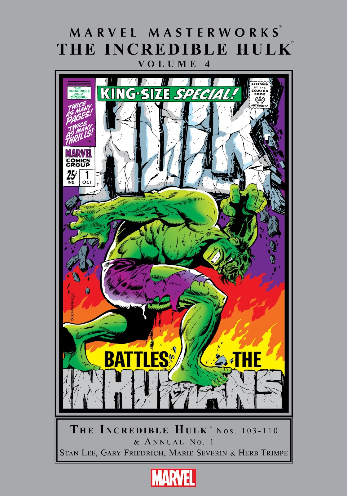 Read online Marvel Masterworks: The Incredible Hulk comic -  Issue # TPB 4 (Part 1) - 1