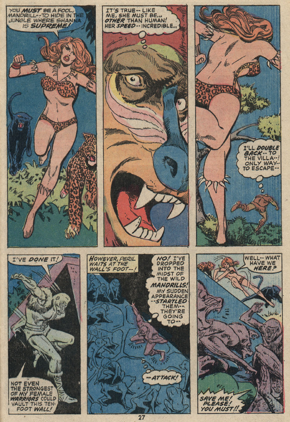 Read online Shanna, the She-Devil (1972) comic -  Issue #4 - 20