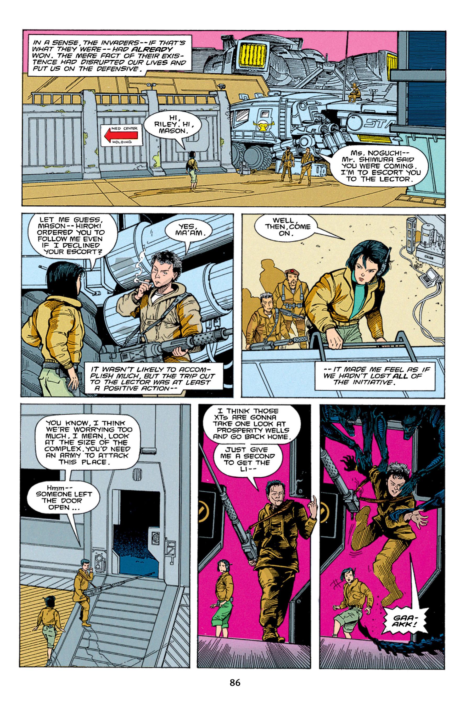 Read online Aliens vs. Predator Omnibus comic -  Issue # _TPB 1 Part 1 - 86