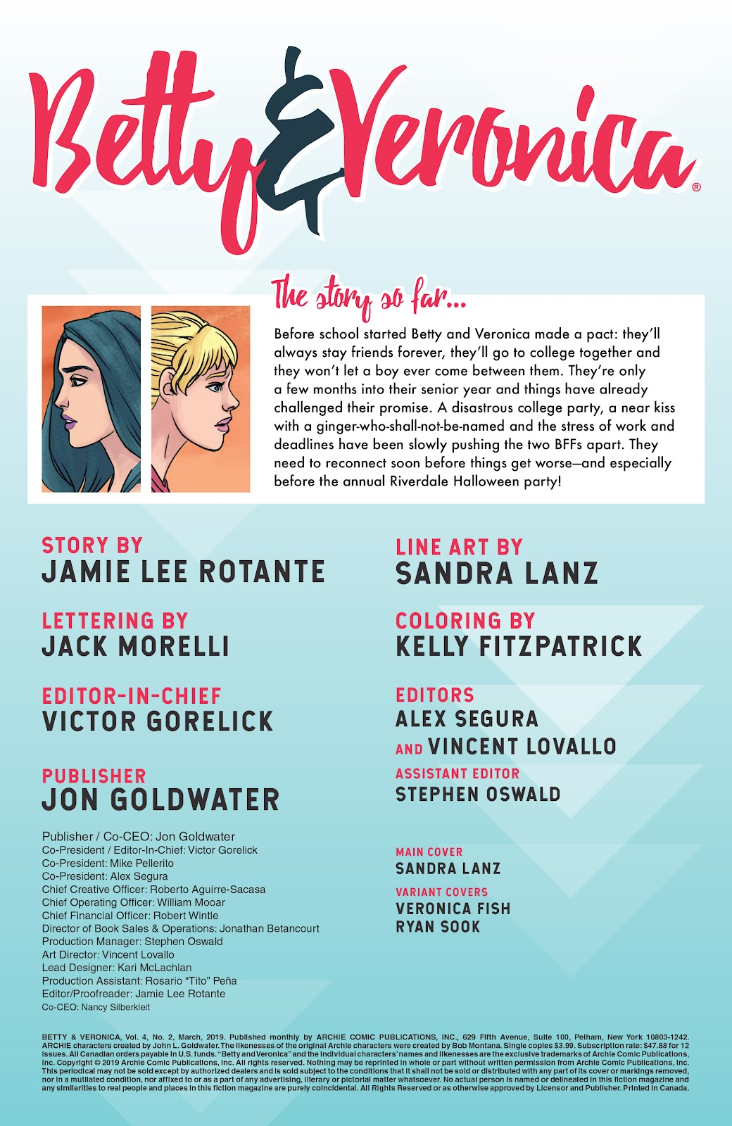 Read online Betty & Veronica (2019) comic -  Issue #2 - 2