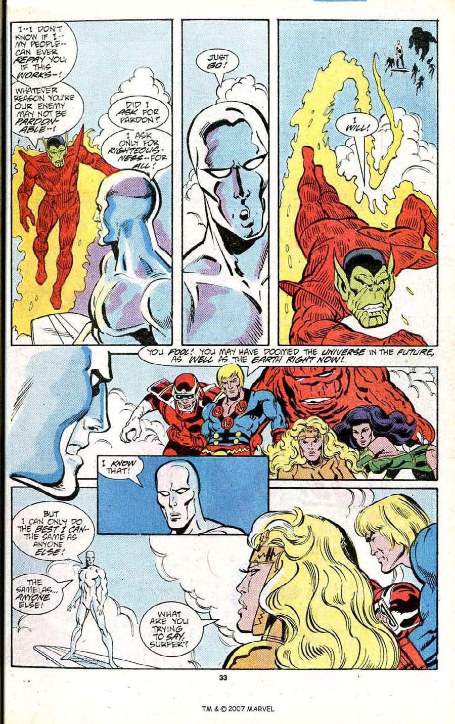 Read online Silver Surfer (1987) comic -  Issue # _Annual 1 - 35