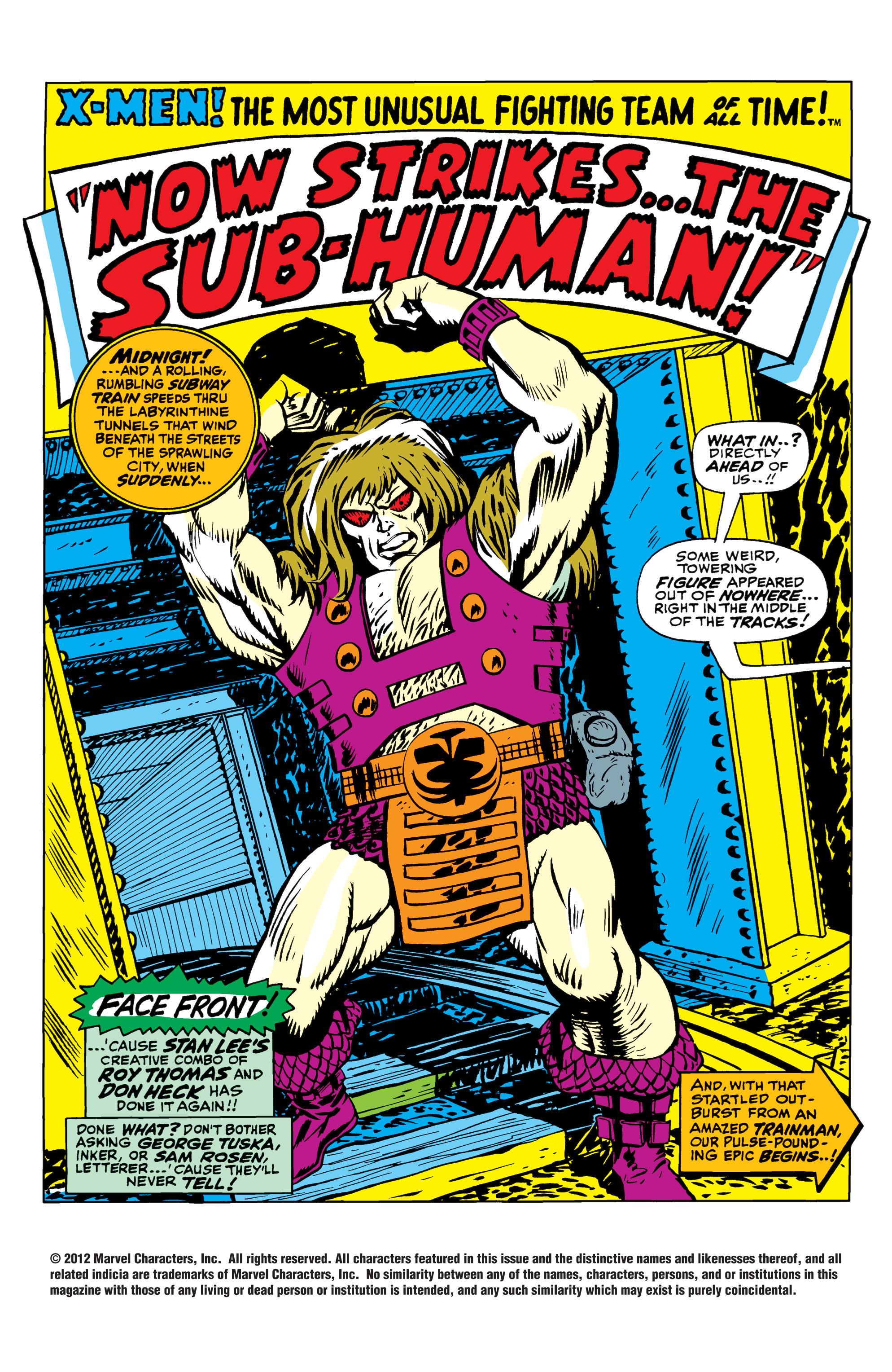 Read online Uncanny X-Men (1963) comic -  Issue #41 - 2